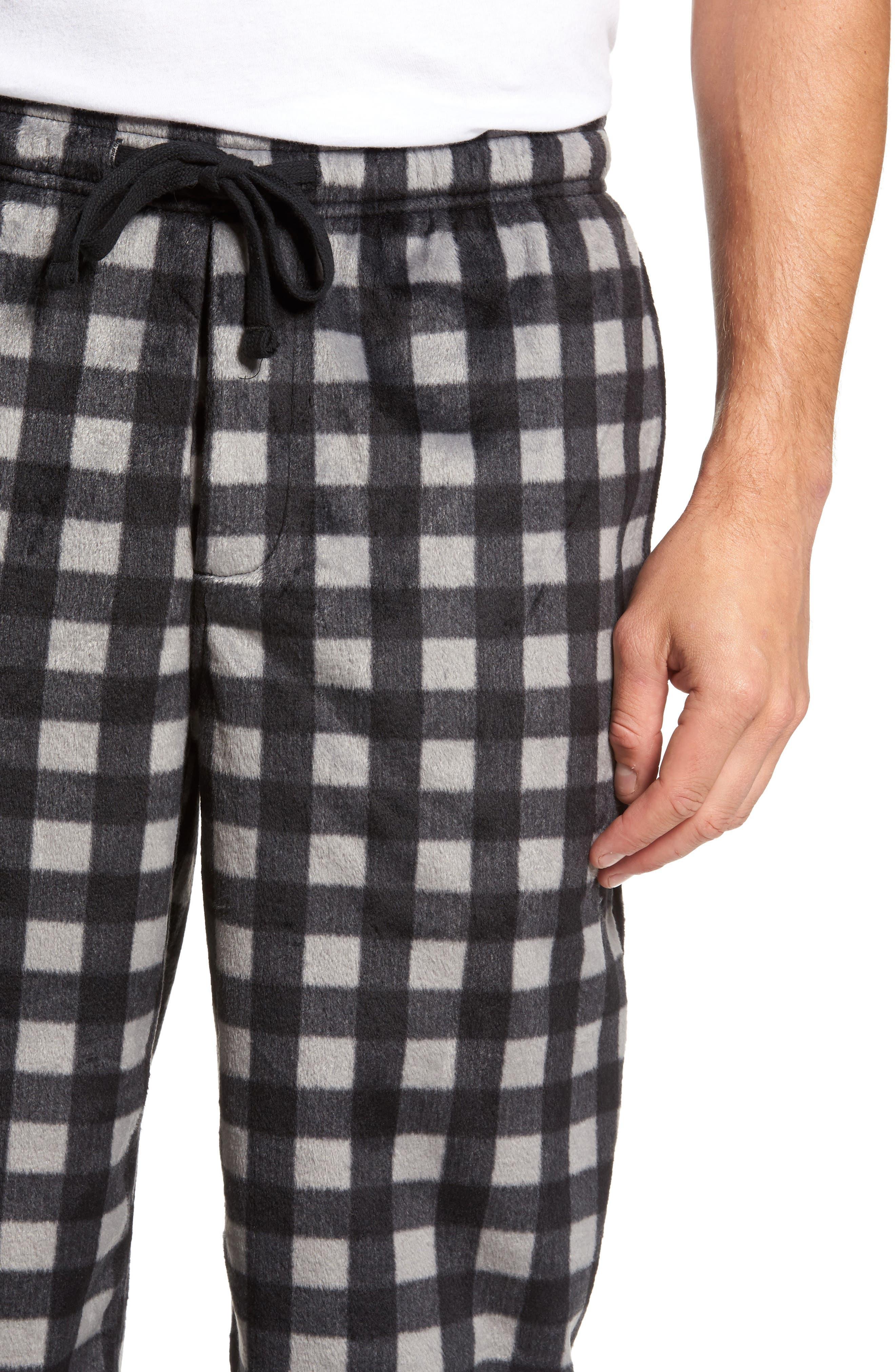 Fleece Lounge Pants,                             Alternate thumbnail 4, color,                             Grey December- Black Buffalo