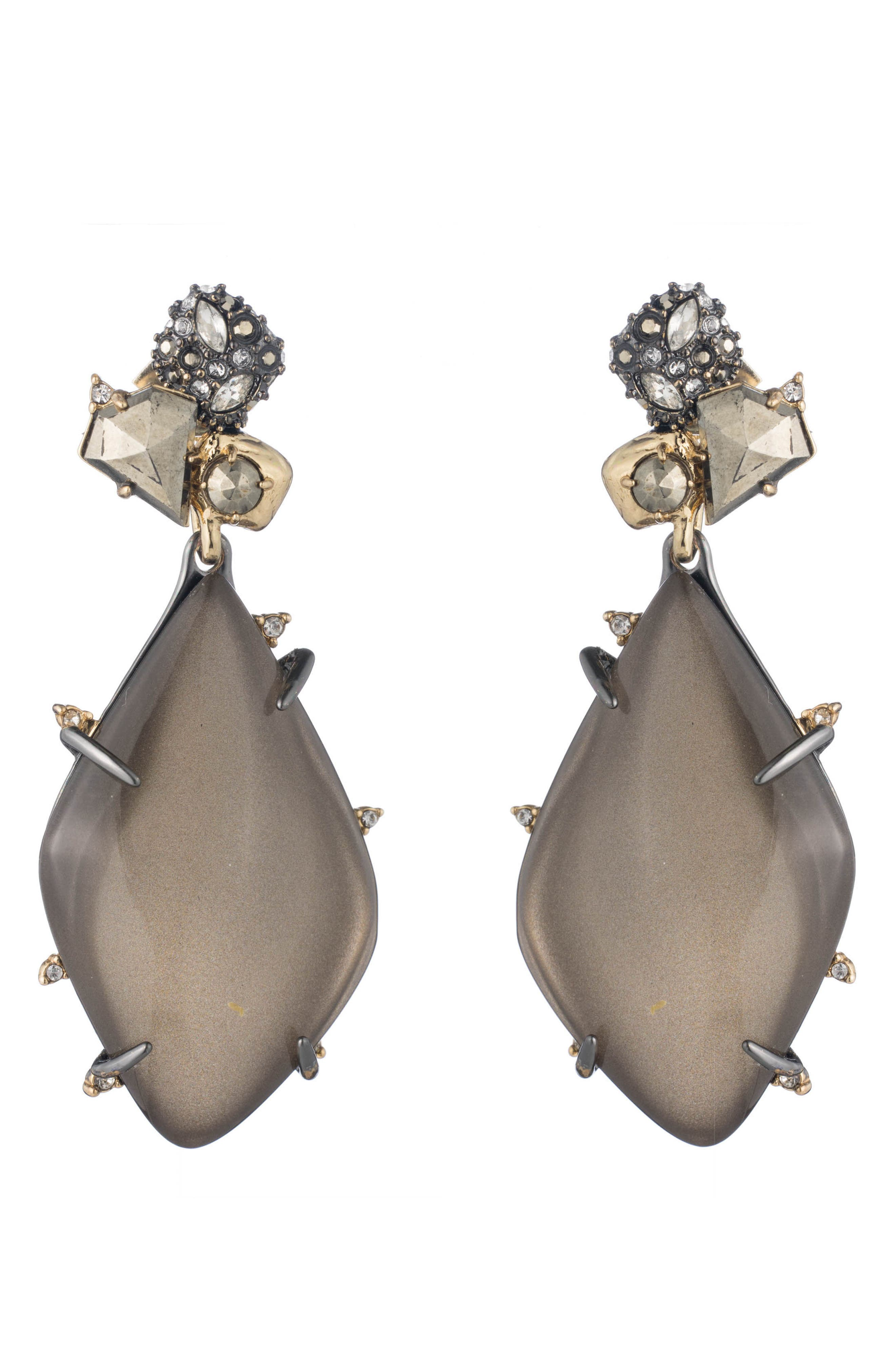 Lucite<sup>®</sup> Drop Earrings,                         Main,                         color, Warm Grey