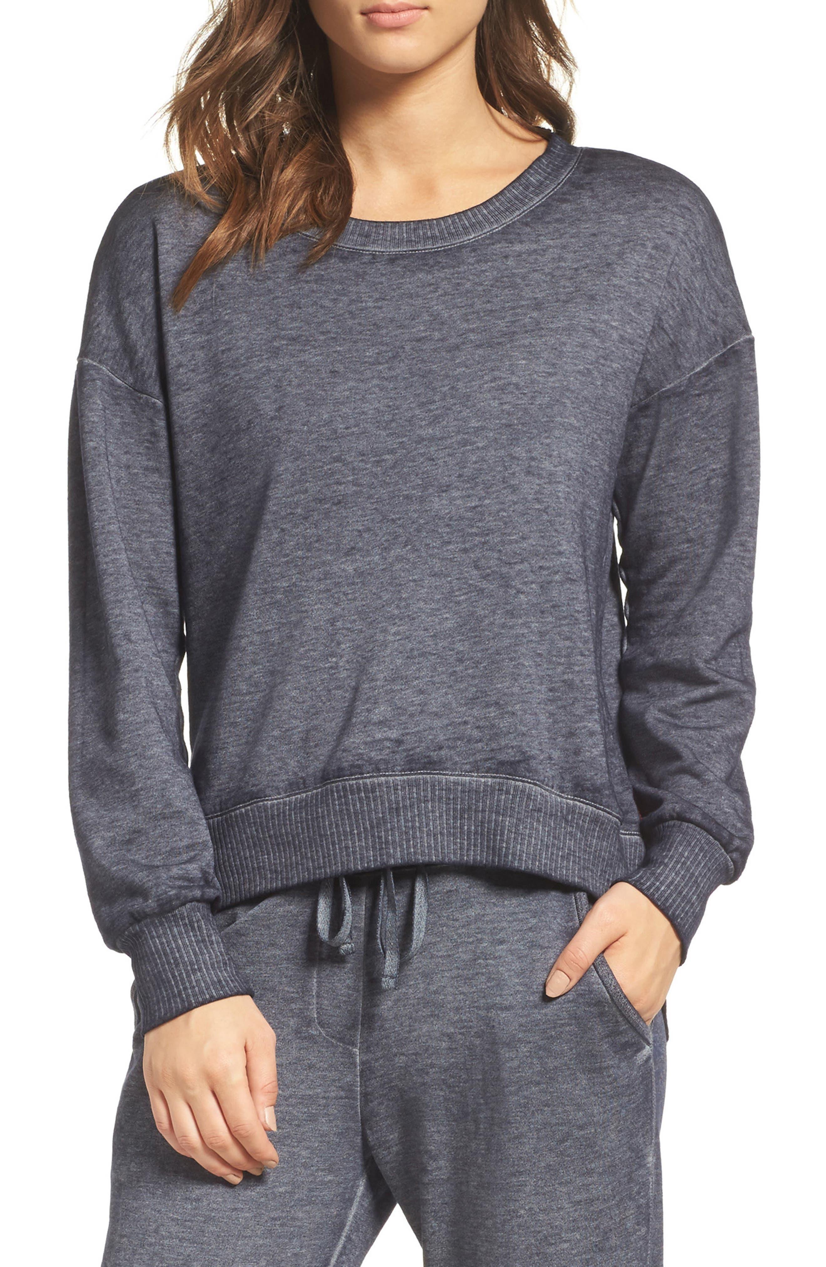 Sunset Blvd Pullover Sweatshirt,                         Main,                         color, Midnight Navy