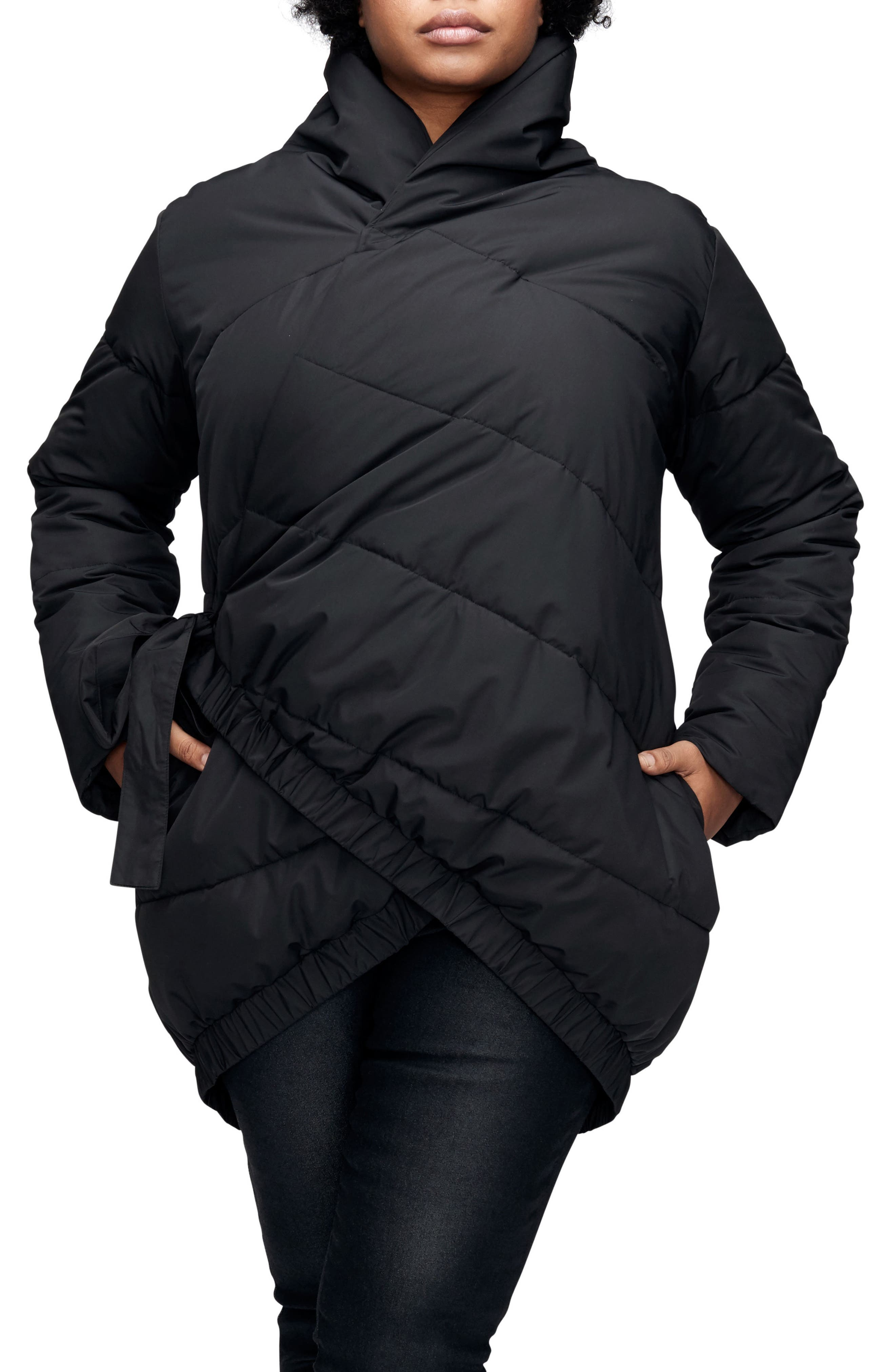 Black quilted jacket size 22