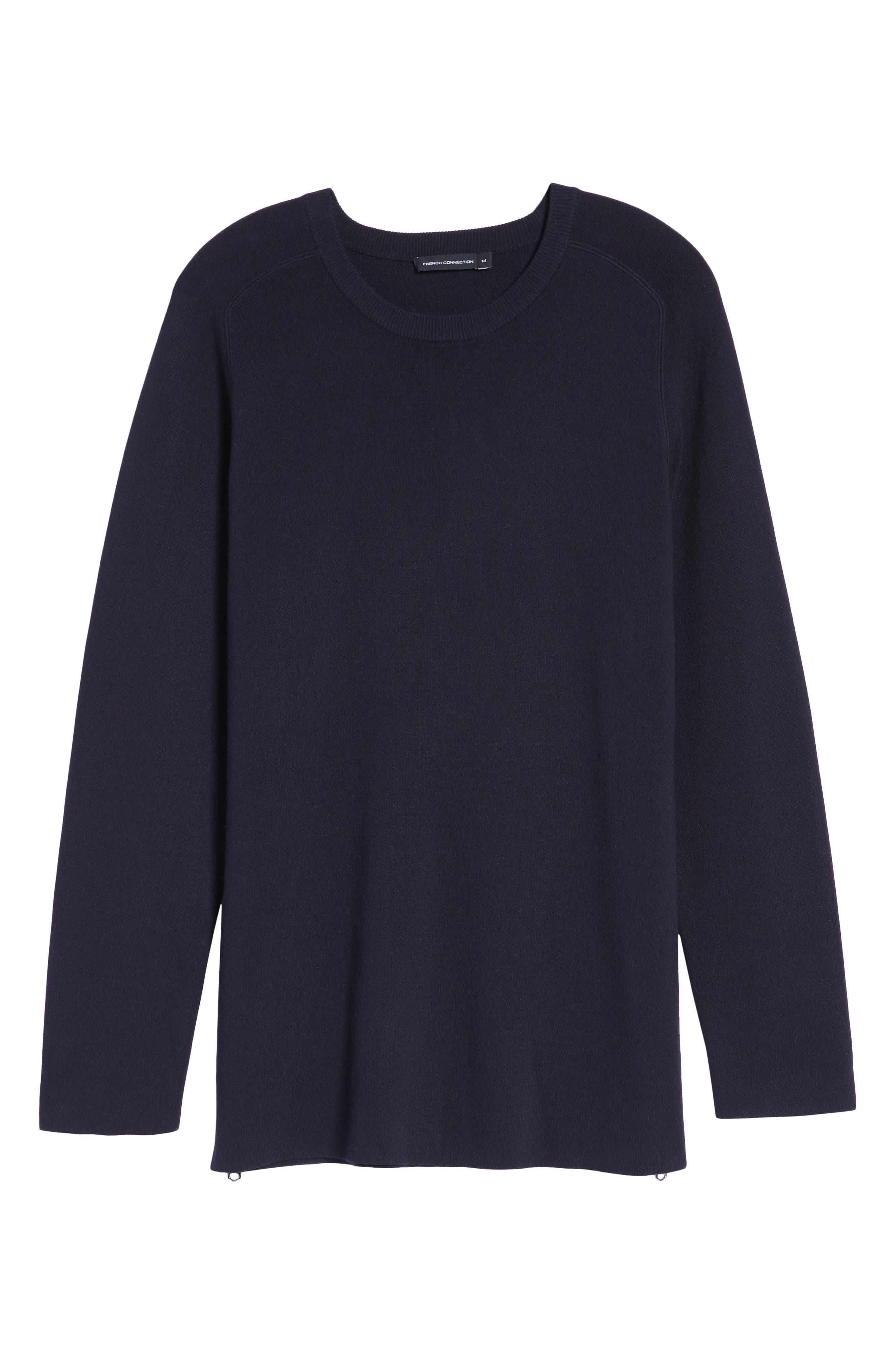 Lakra Side Zip Sweater,                             Alternate thumbnail 6, color,                             Marine Blue