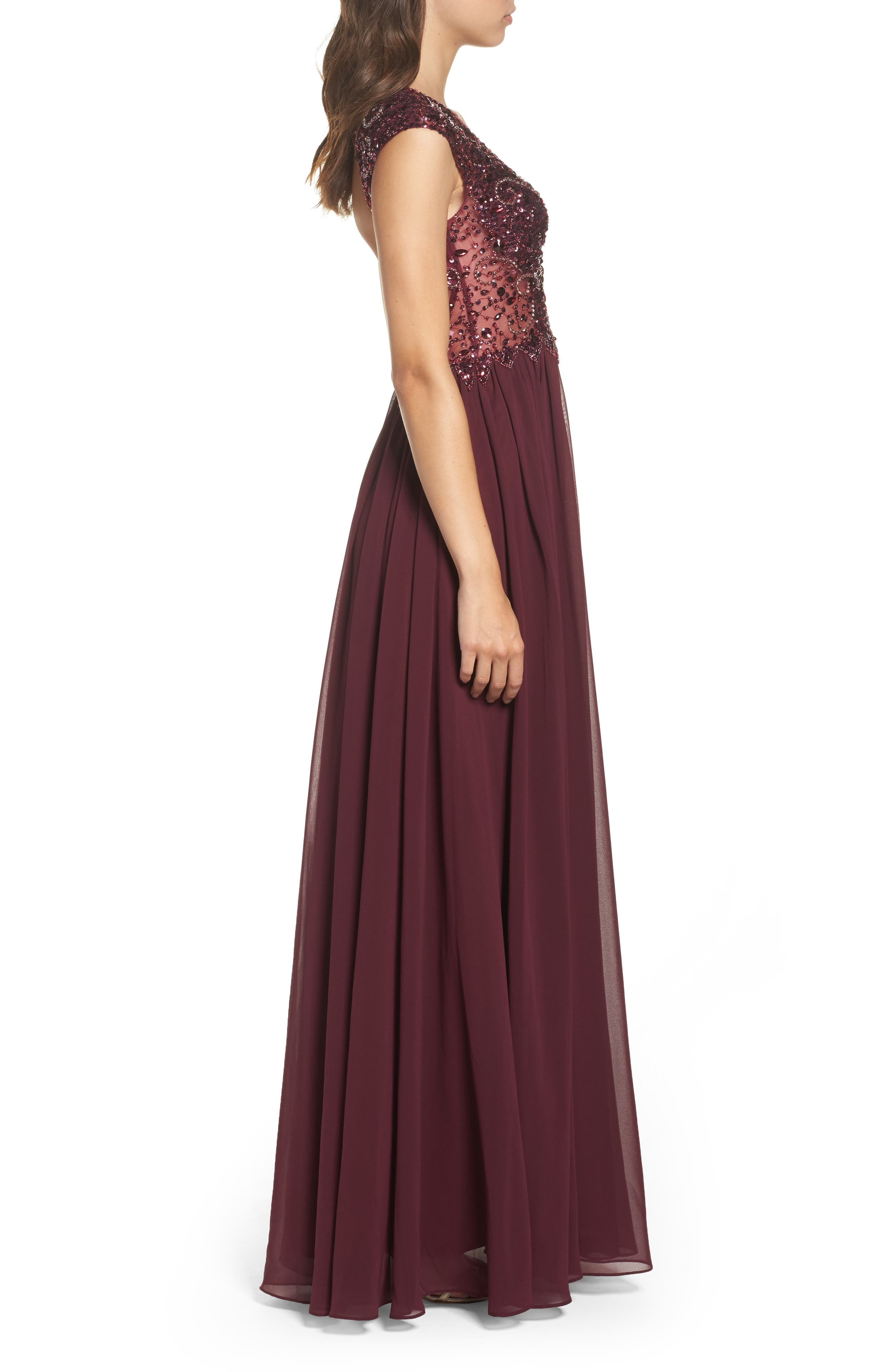 Alternate Image 3  - Sean Collection Embellished Mesh & Chiffon Gown