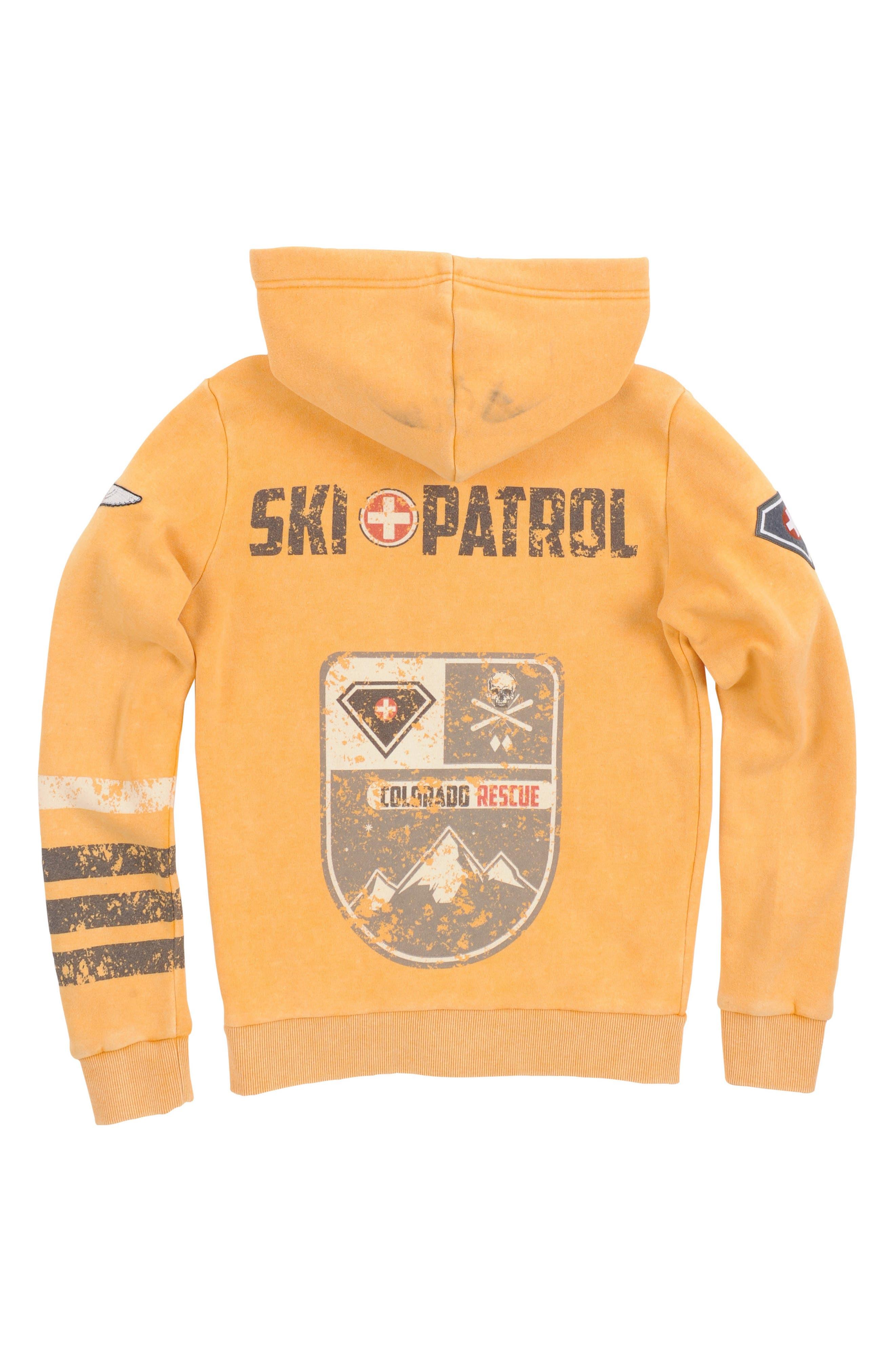 Alternate Image 2  - Butter Super Soft Ski Patrol Zip Hoodie (Little Boys)