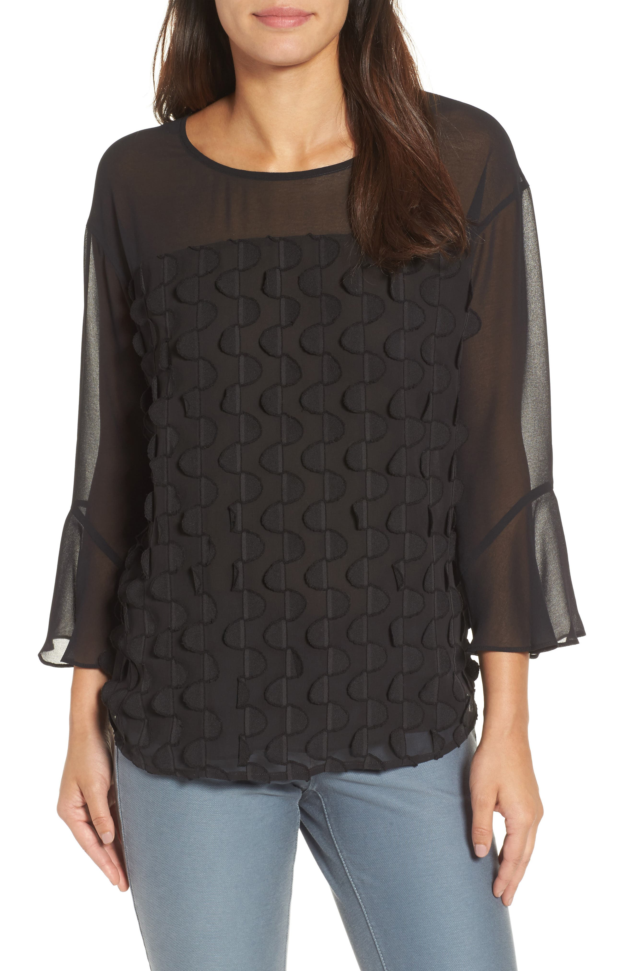 Nic + Zoe Showtime Bell Sleeve Top