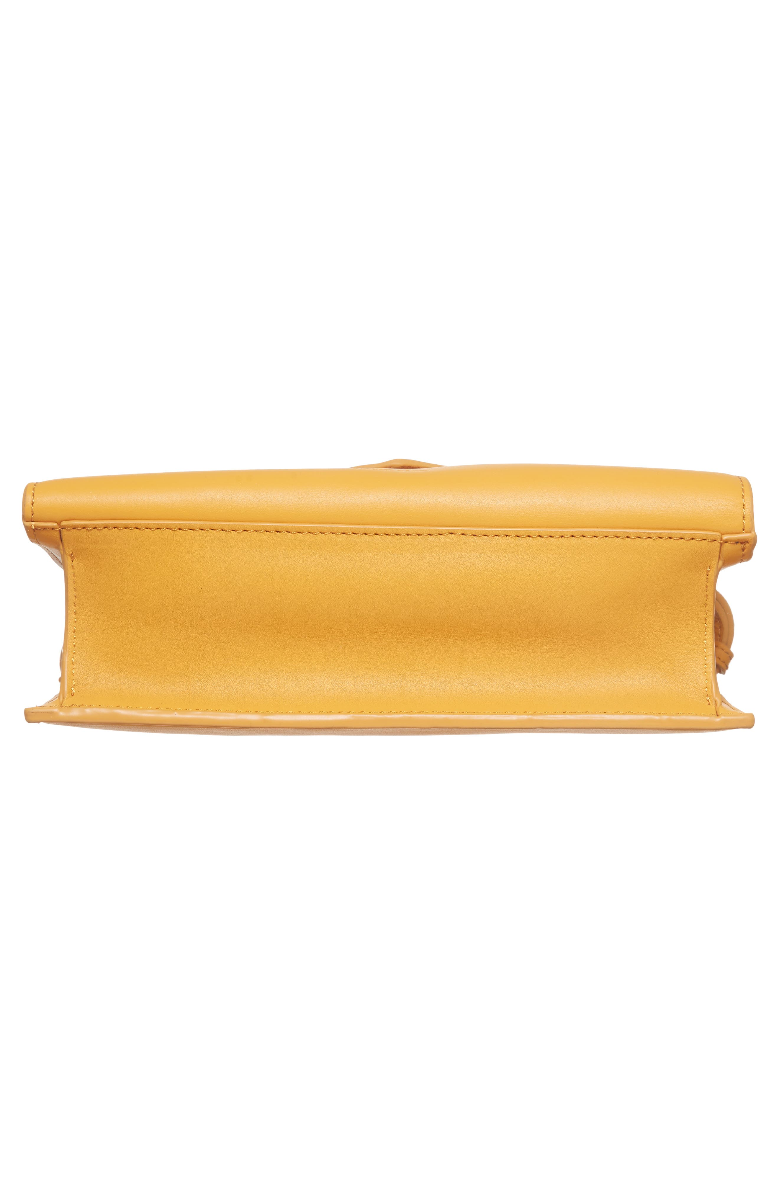 Easton Leather Envelope Crossbody Bag,                             Alternate thumbnail 6, color,                             Ochre