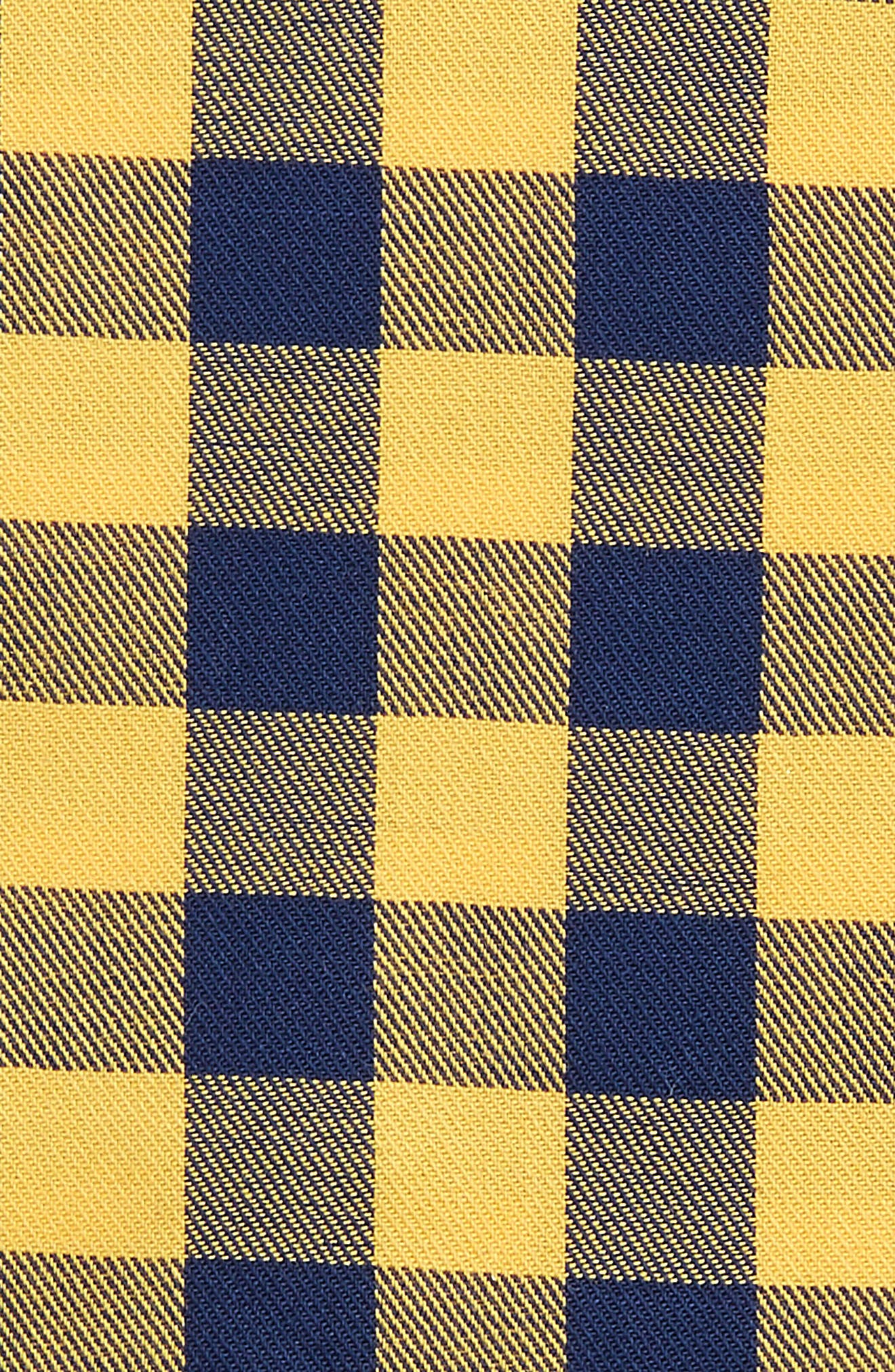 Buffalo Check Cotton Pocket Square,                             Alternate thumbnail 3, color,                             Gold