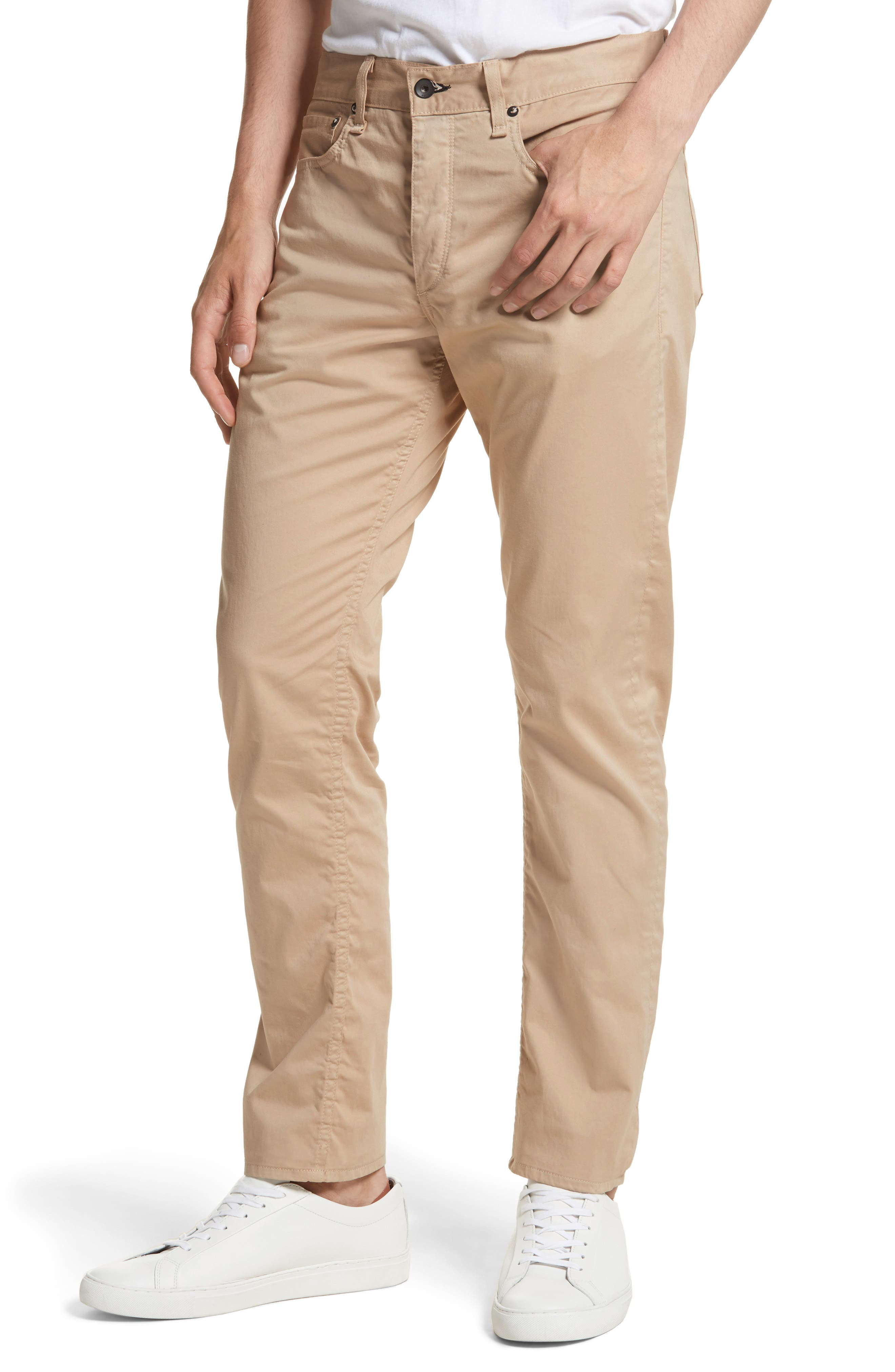 Fit 2 Five-Pocket Twill Pants,                             Alternate thumbnail 4, color,                             Beige