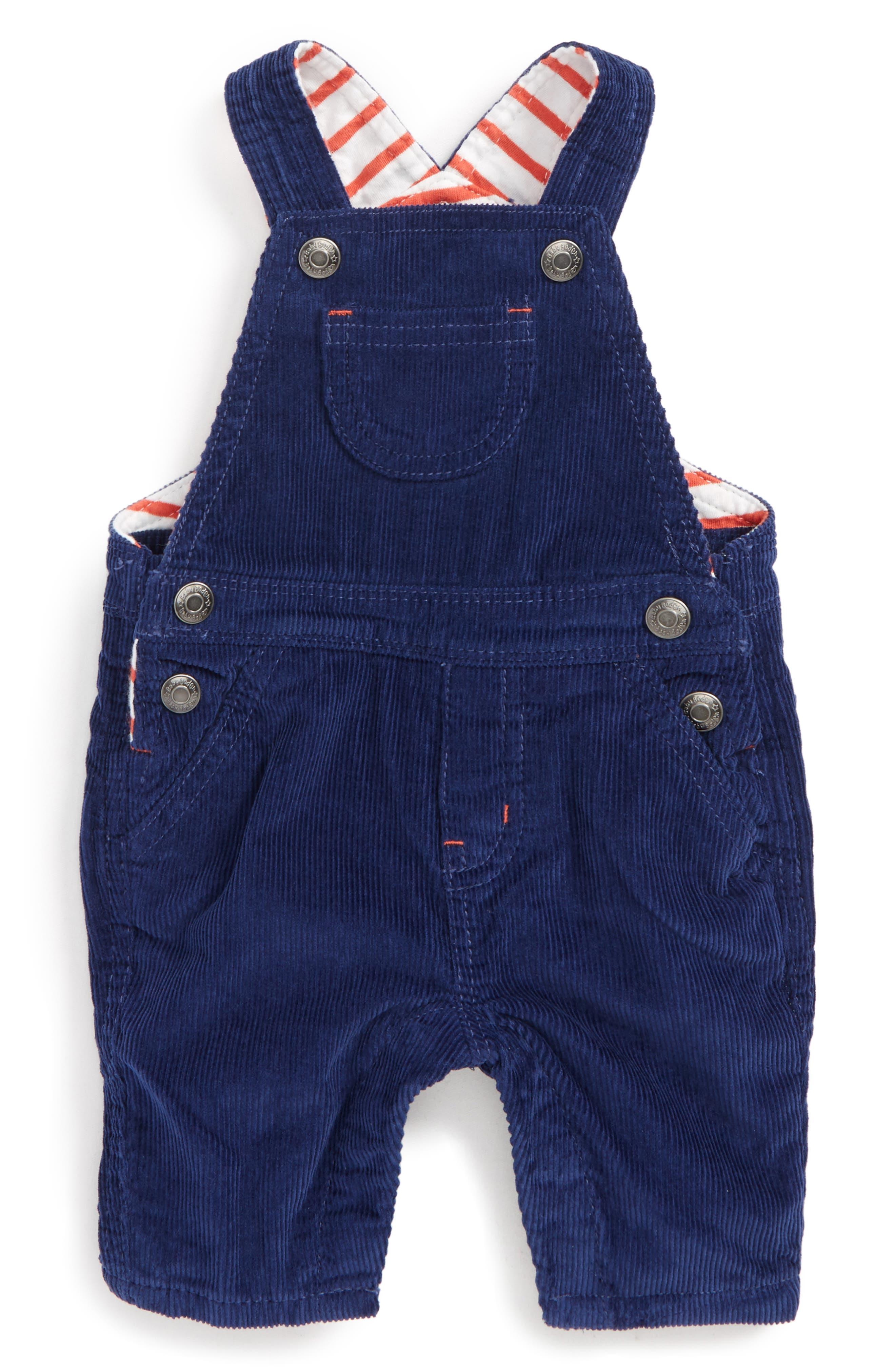 Mini Boden Classic Corduroy Overalls (Baby Boys & Toddler Boys)