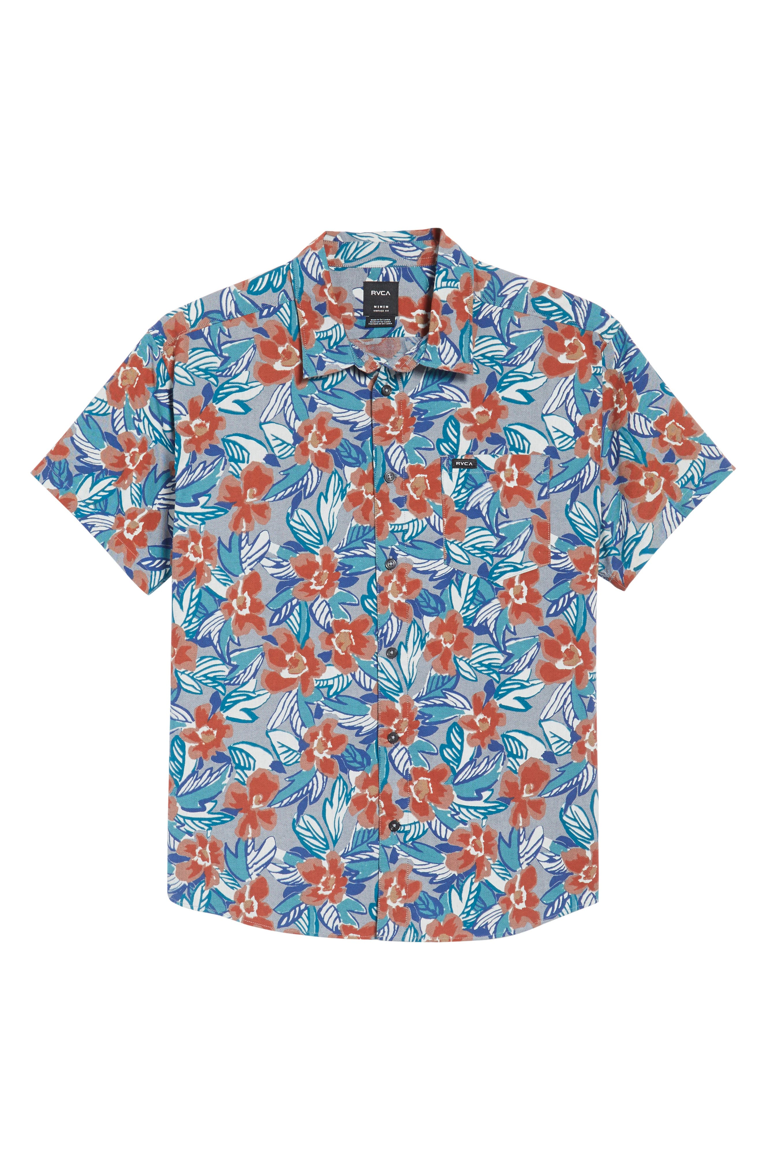 Alternate Image 6  - RVCA Paradise Valley Floral Woven Shirt