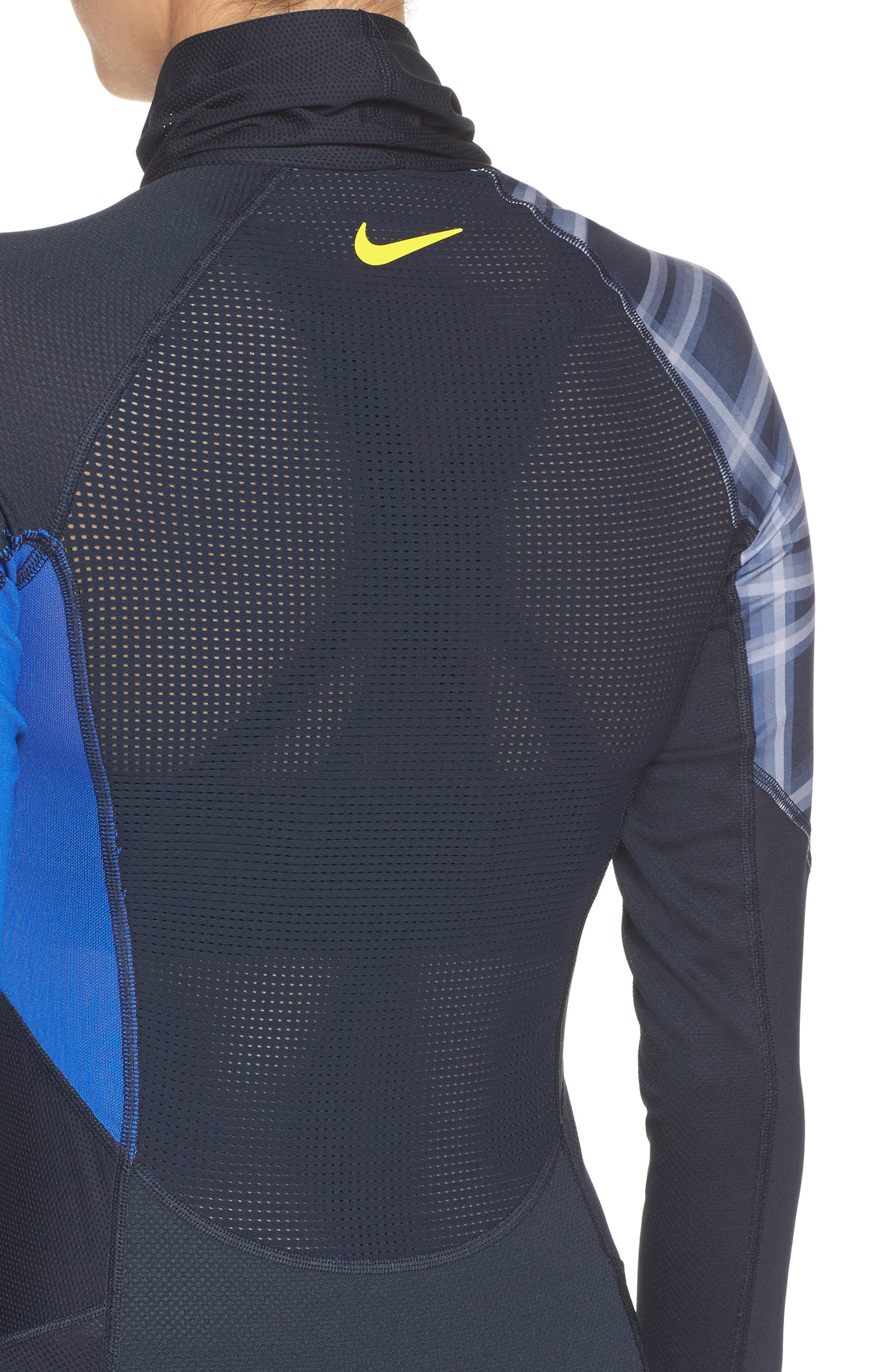Training Pullover,                             Alternate thumbnail 4, color,                             Dark Obsidian/ Royal/ Yellow