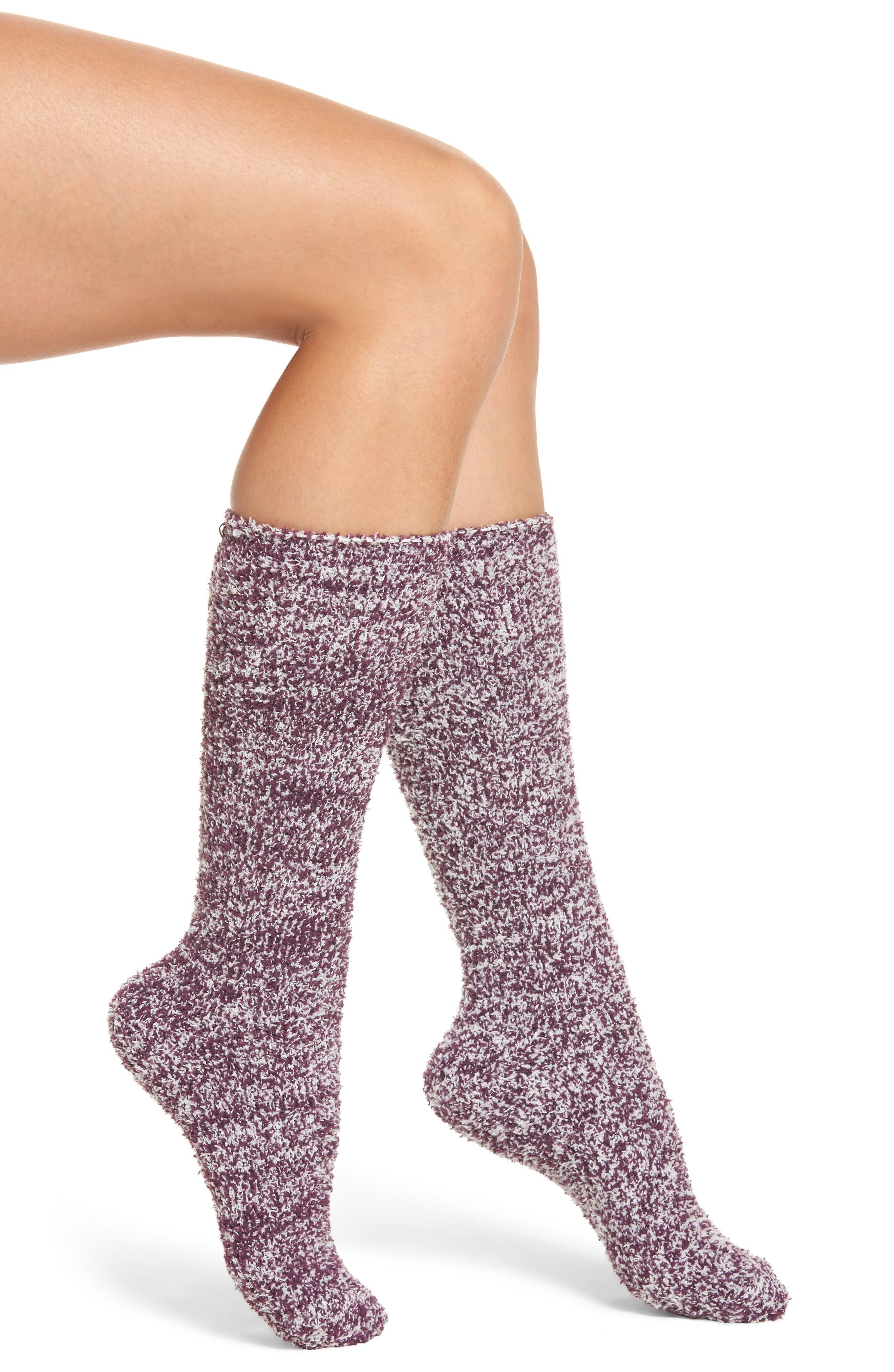 CozyChic<sup>®</sup> Socks,                         Main,                         color, Velvet Plum/ White
