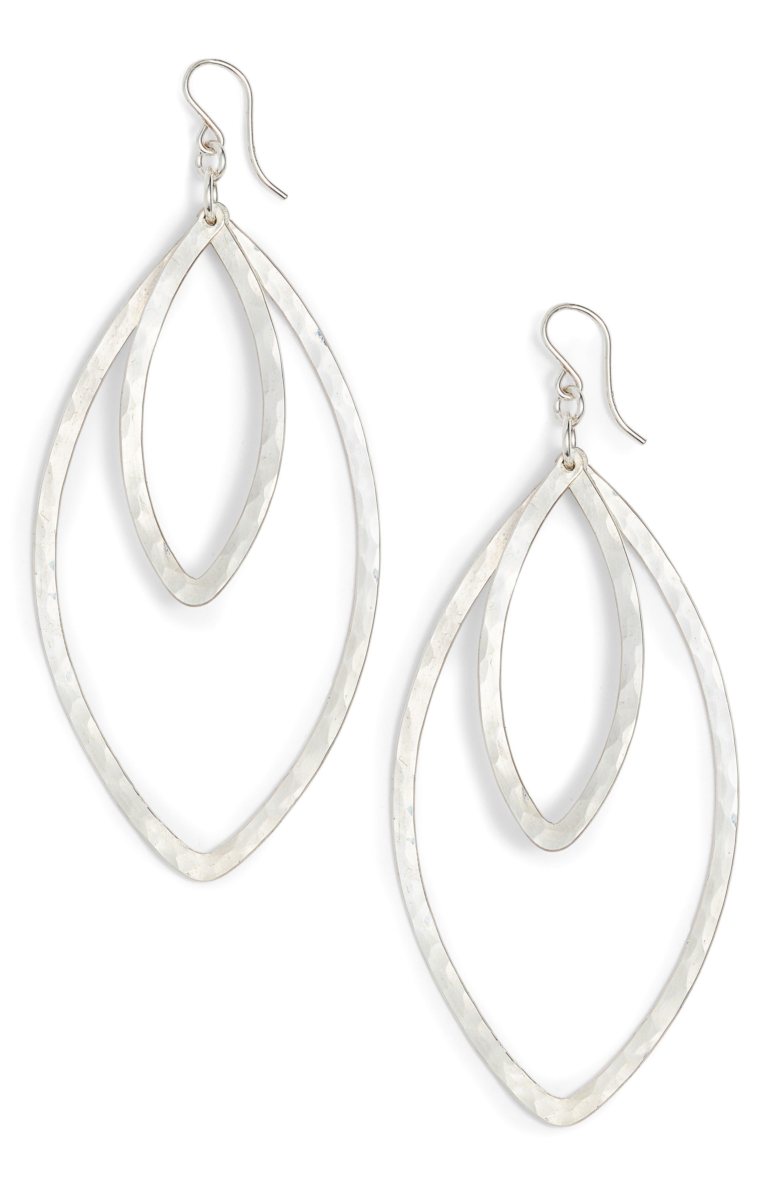 Nashelle Double Marquise Drop Earrings