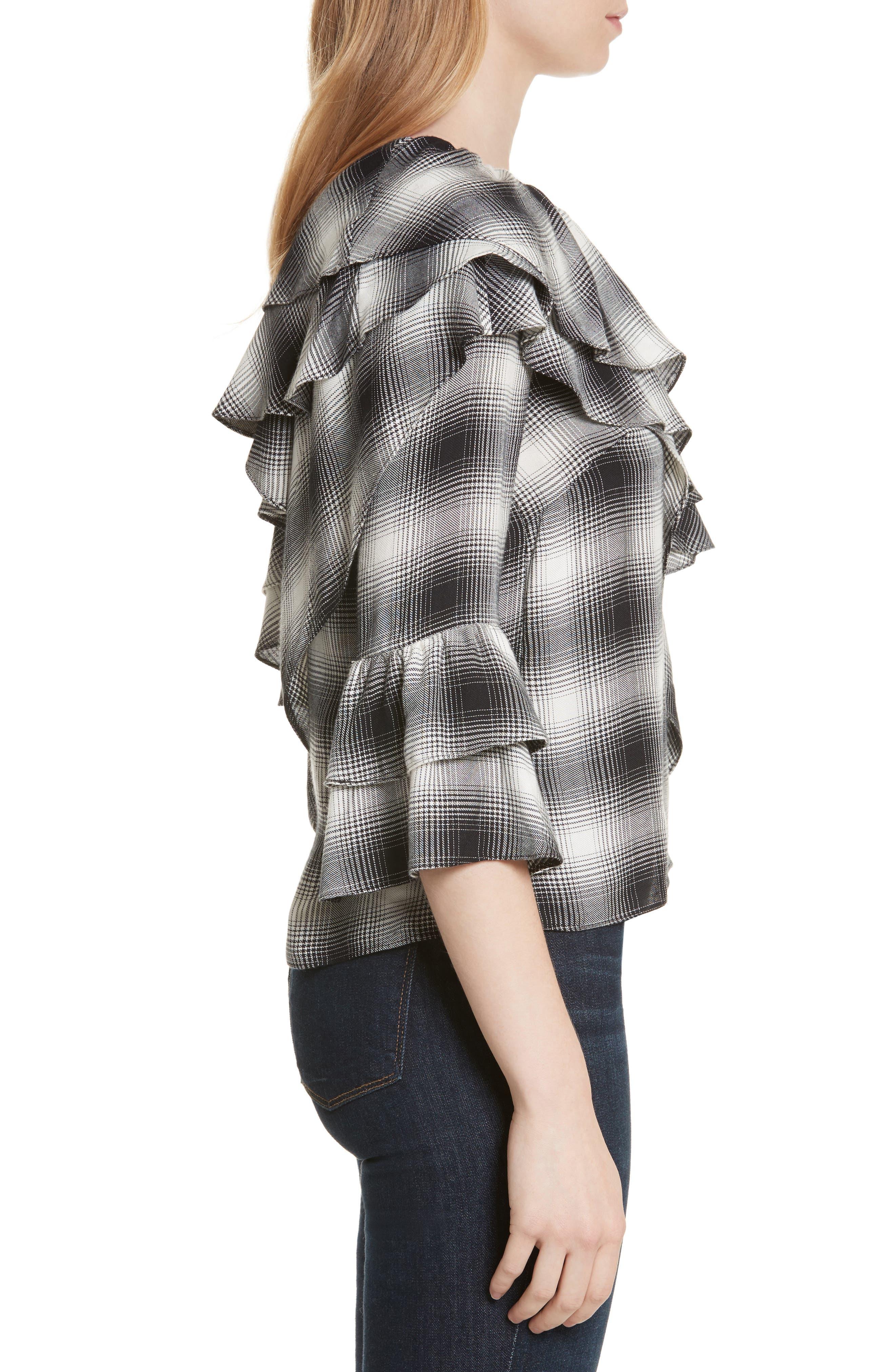 Alternate Image 3  - Alice + Olivia Hilaria Ruffled One-Shoulder Blouse