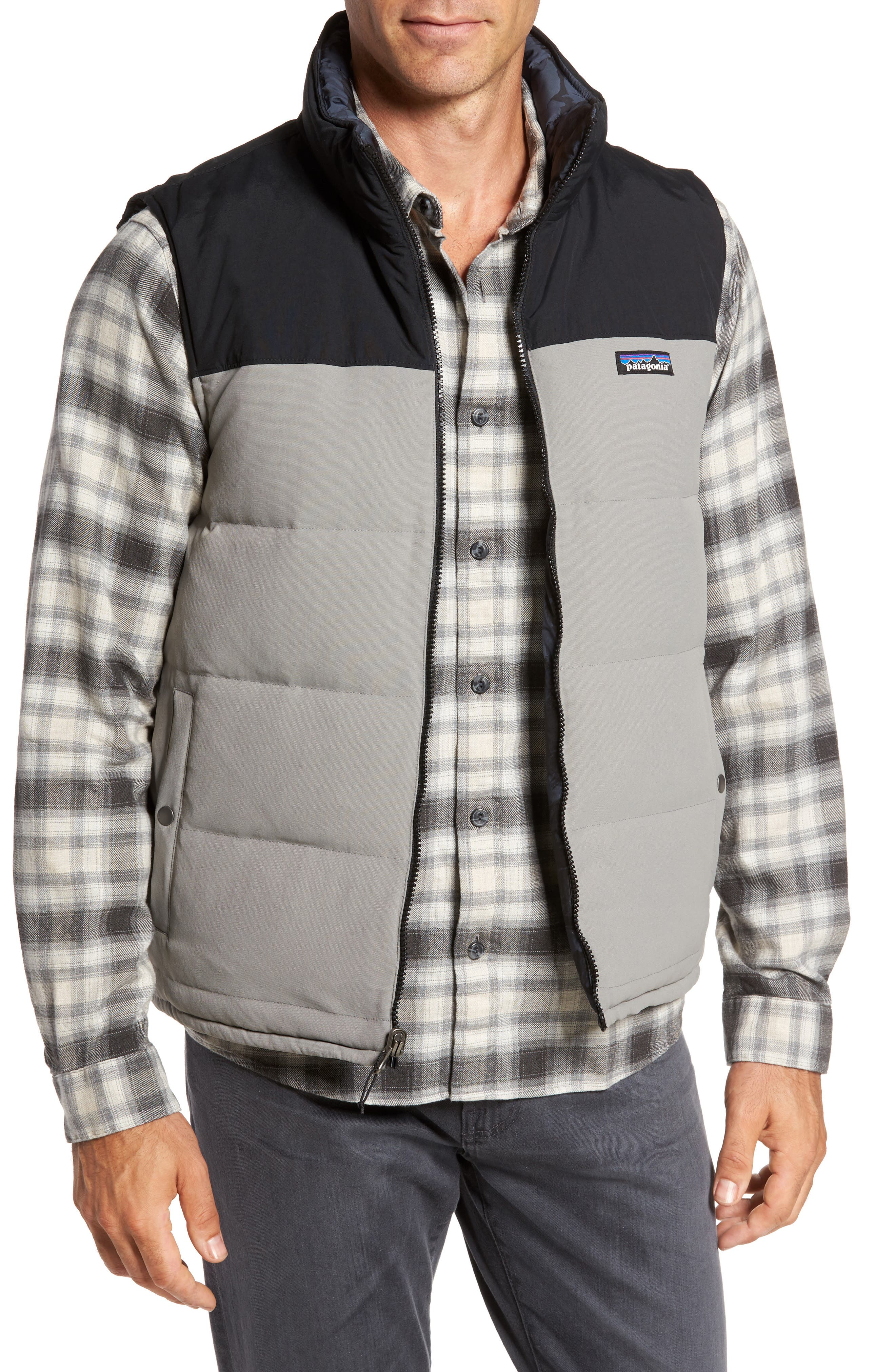 'Bivy' Reversible Down Fill Vest,                         Main,                         color, Feather Grey
