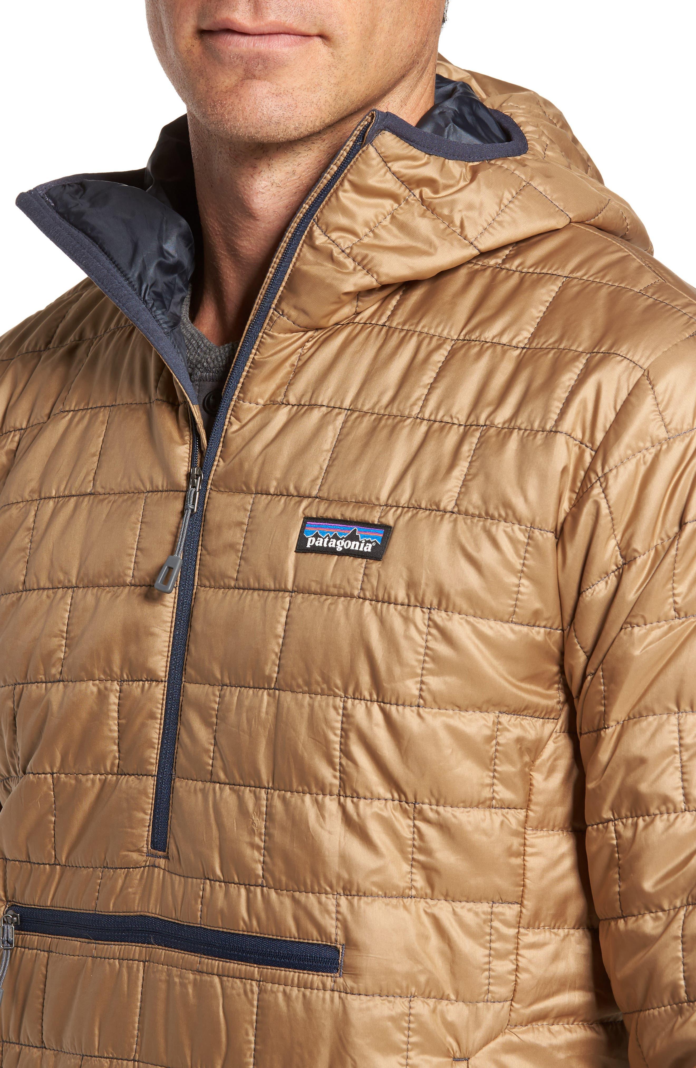 Nano Puff<sup>®</sup> Bivy Regular Fit Water Resistant Jacket,                             Alternate thumbnail 4, color,                             Mojave Khaki