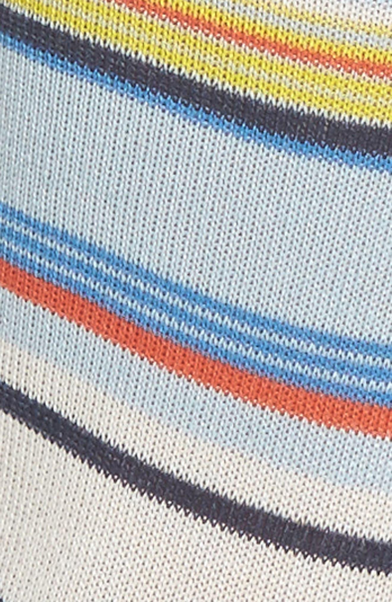 Eliza Stripe Crew Socks,                             Alternate thumbnail 2, color,                             Navy