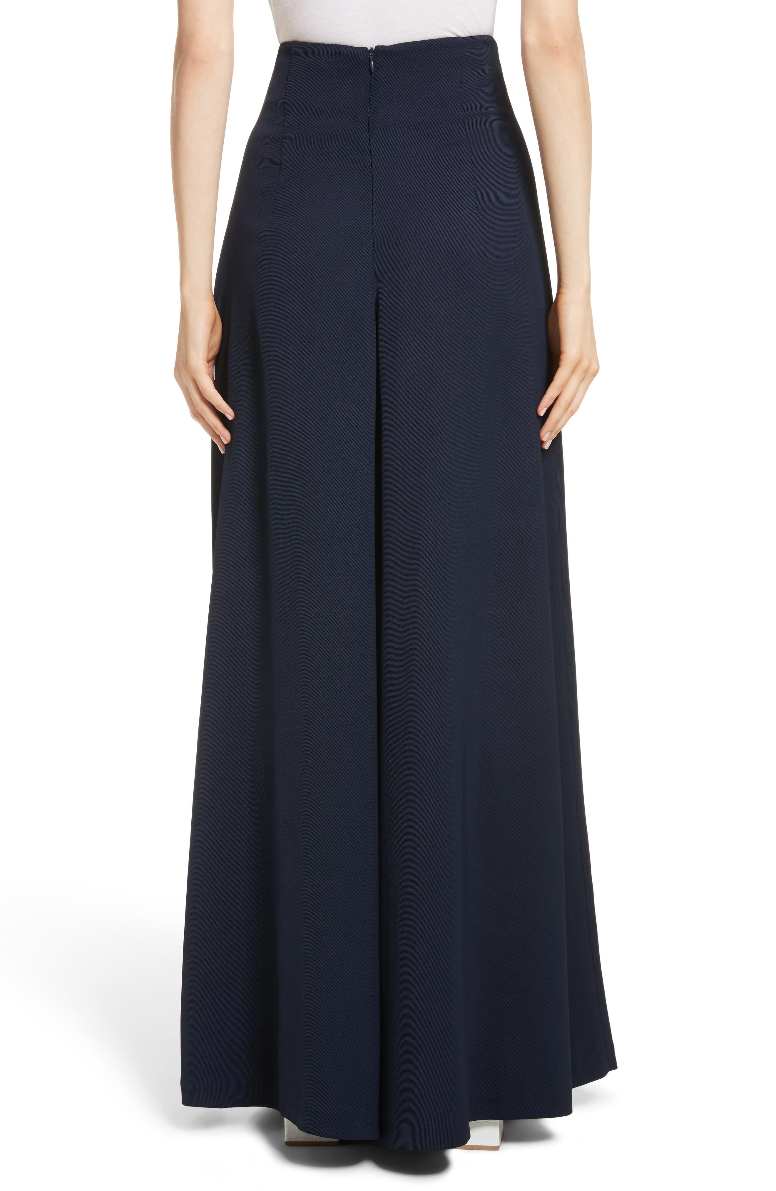 Wide Leg Trousers,                             Alternate thumbnail 2, color,                             Navy