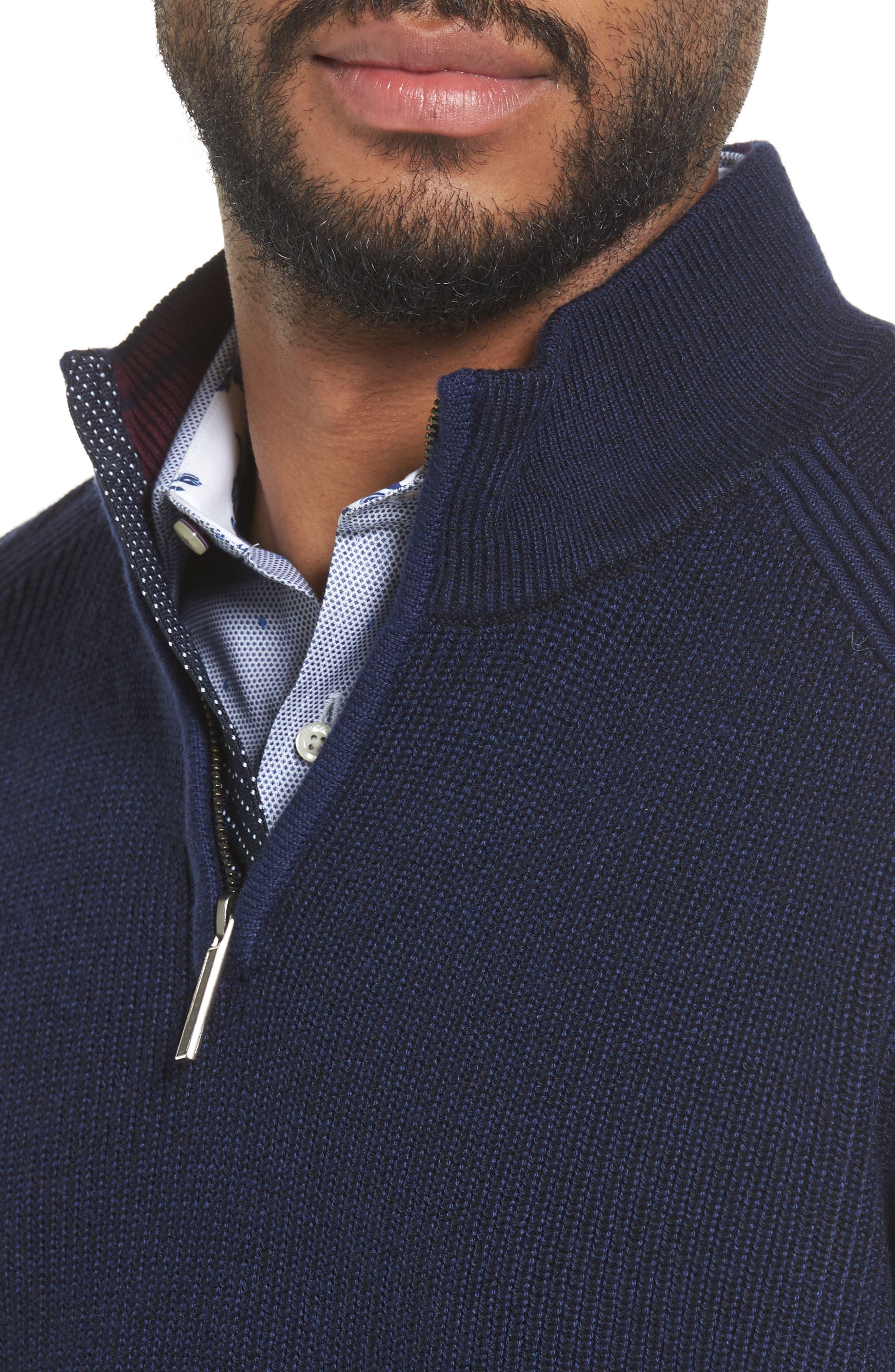 Alternate Image 4  - Ted Baker London Stach Quarter Zip Sweater