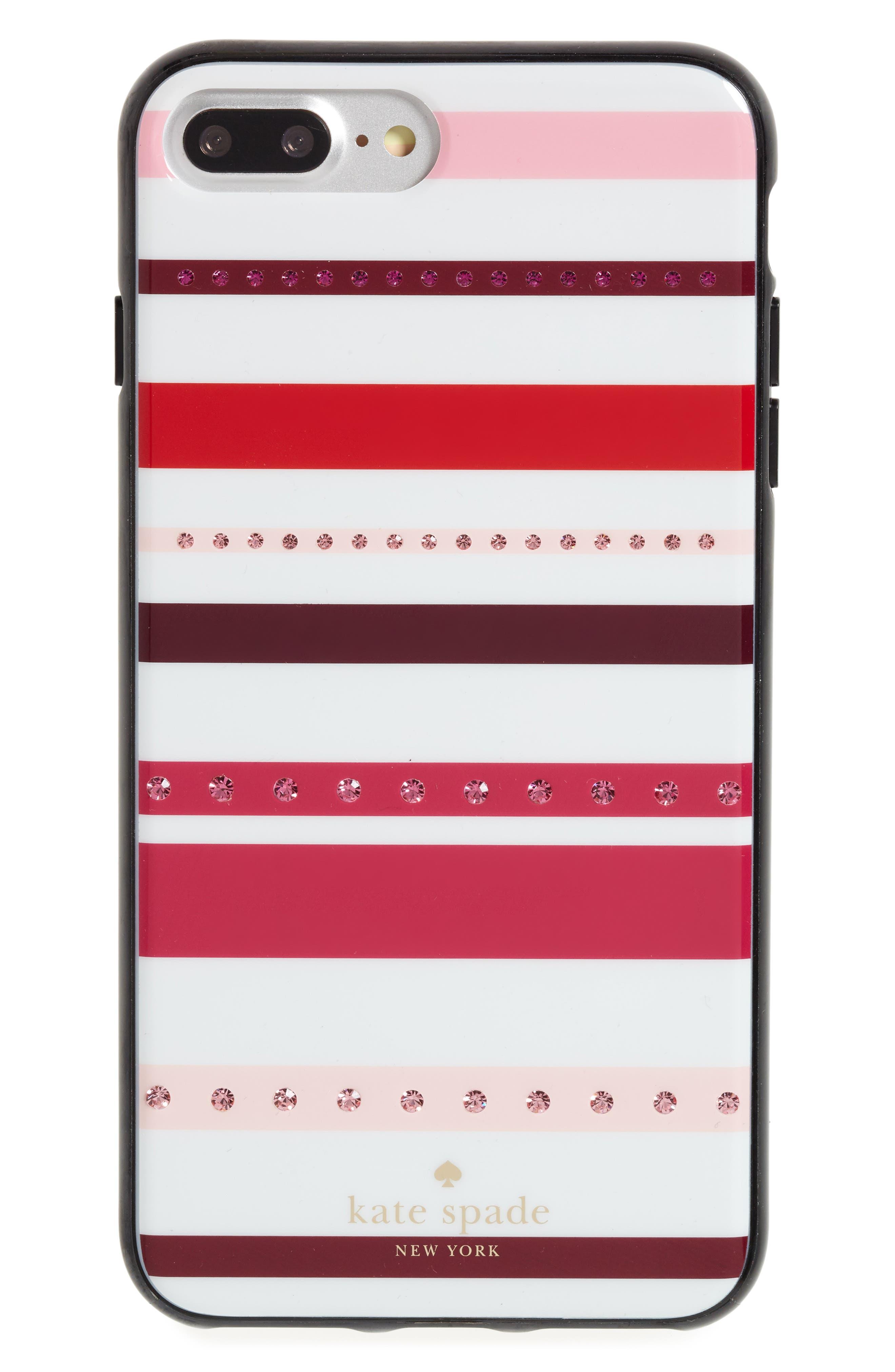 kate spade new york jeweled stripe iPhone 7 & 7 Plus case