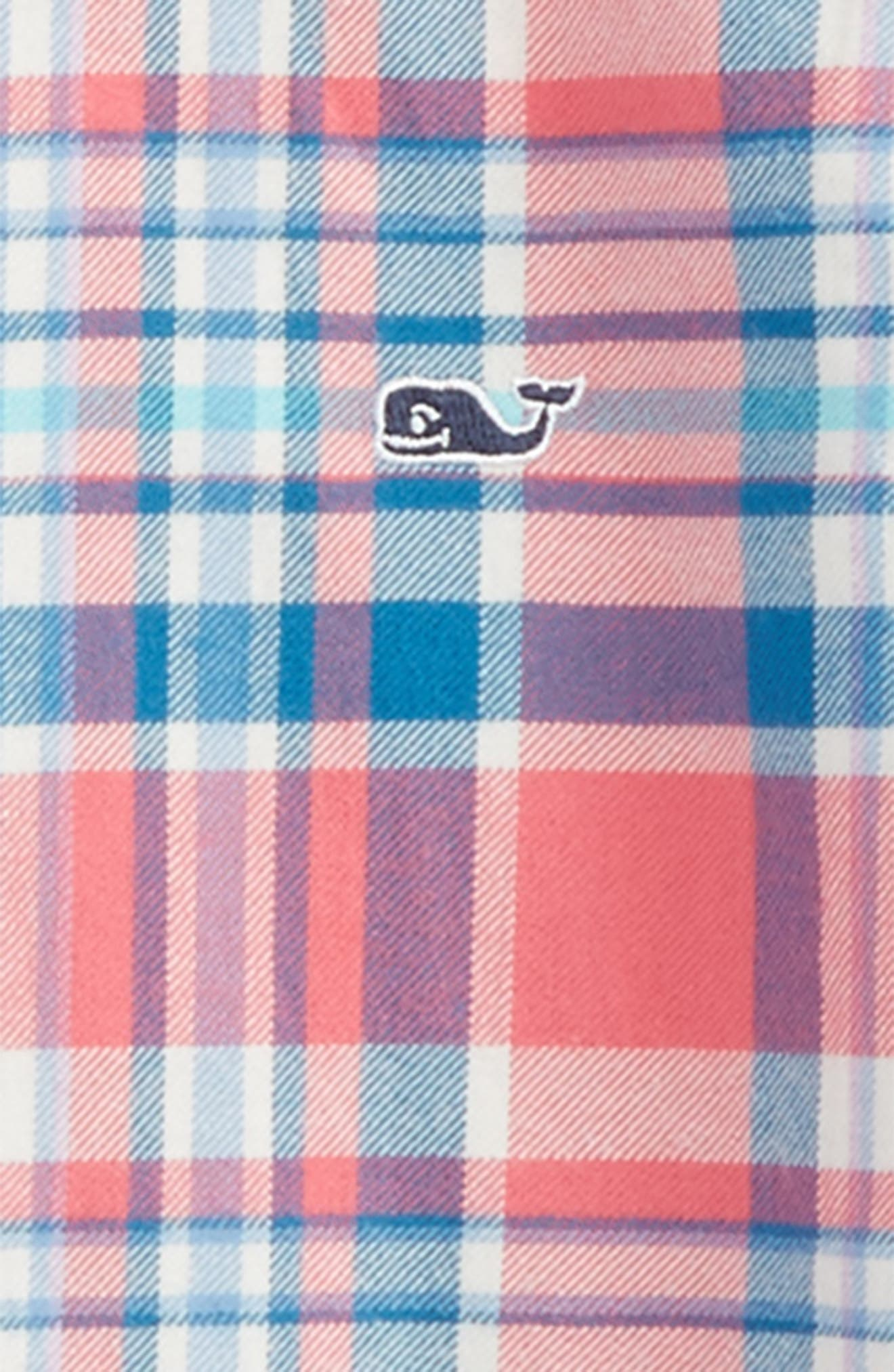 Alternate Image 2  - vineyard vines Middleton Plaid Flannel Shirt (Toddler Boys & Little Boys)