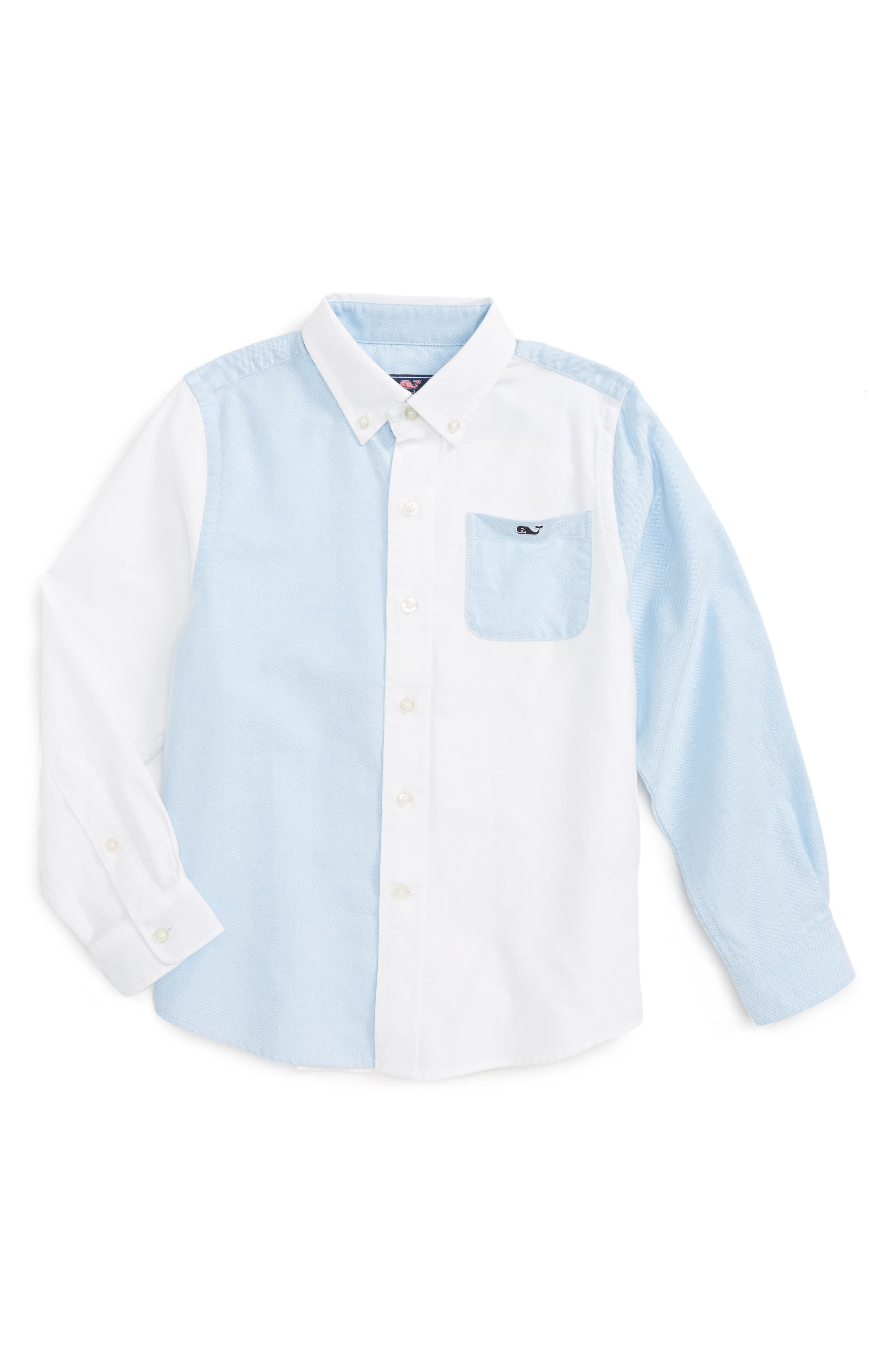 Main Image - vineyard vines Party Whale Oxford Shirt (Toddler Boys & Little Boys)