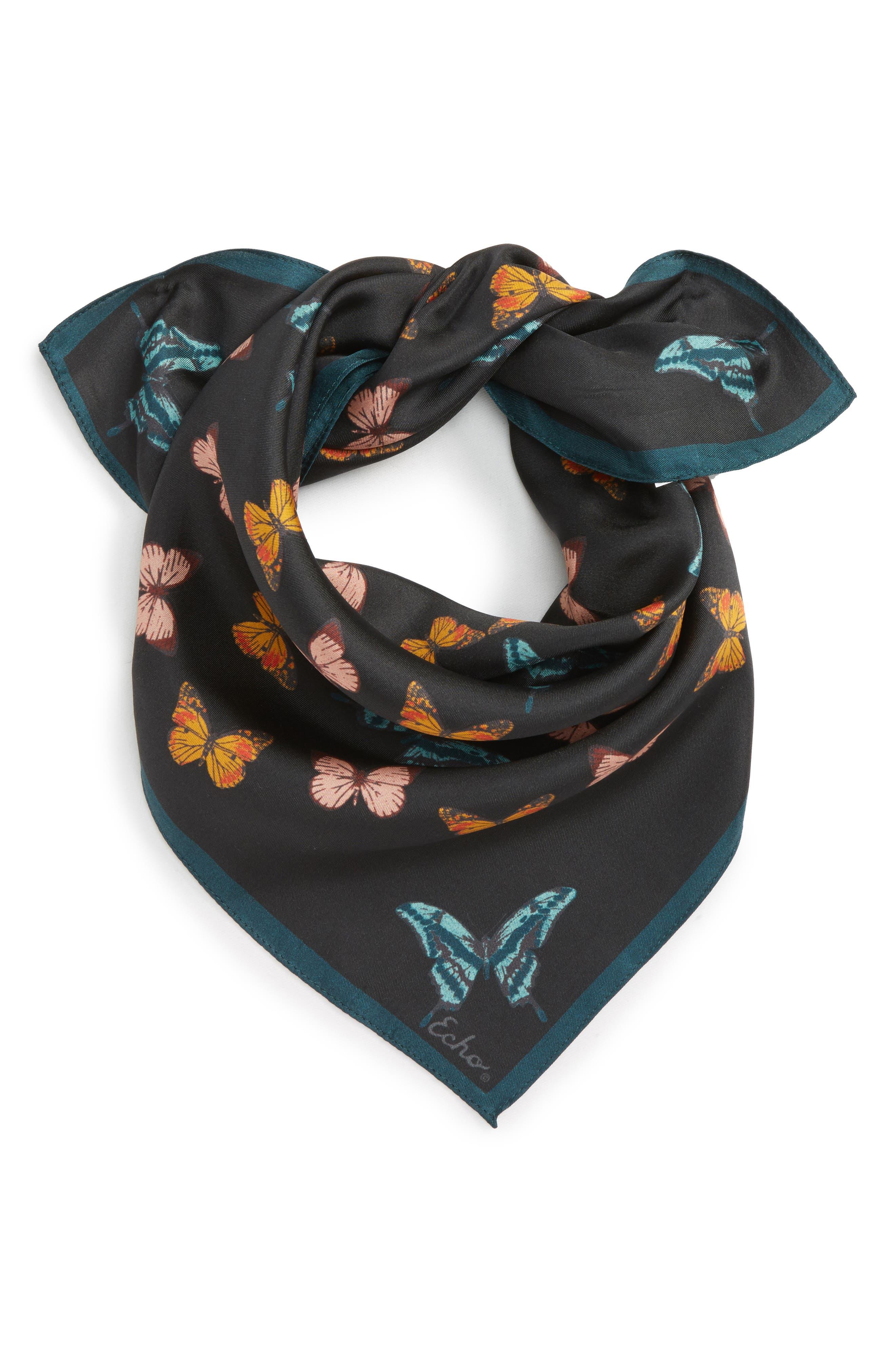 Echo Butterfly Silk Bandana