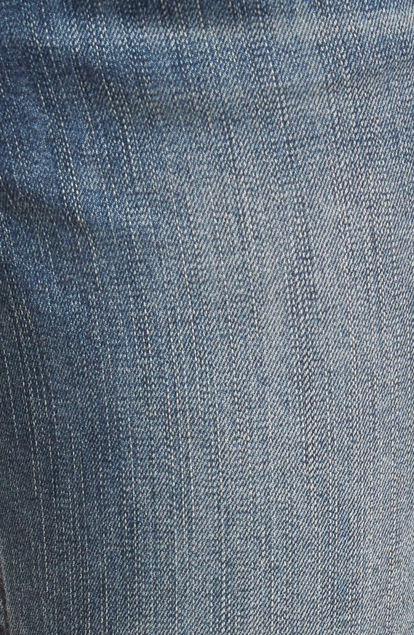 Alternate Image 5  - Treasure & Bond Ankle Skinny Jeans (Rain Dusk Destroy)