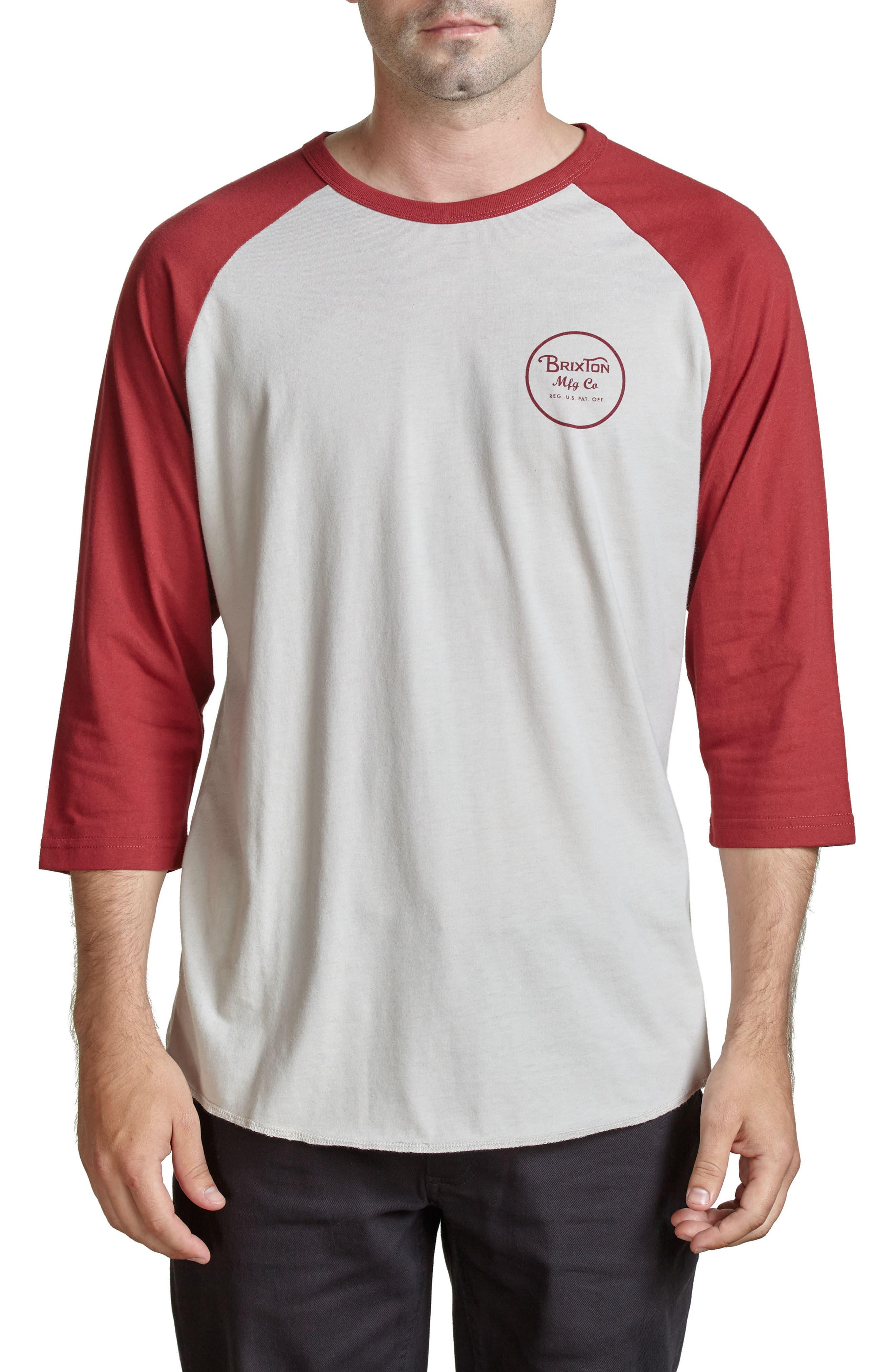 Alternate Image 1 Selected - Brixton Wheeler Graphic Baseball T-Shirt