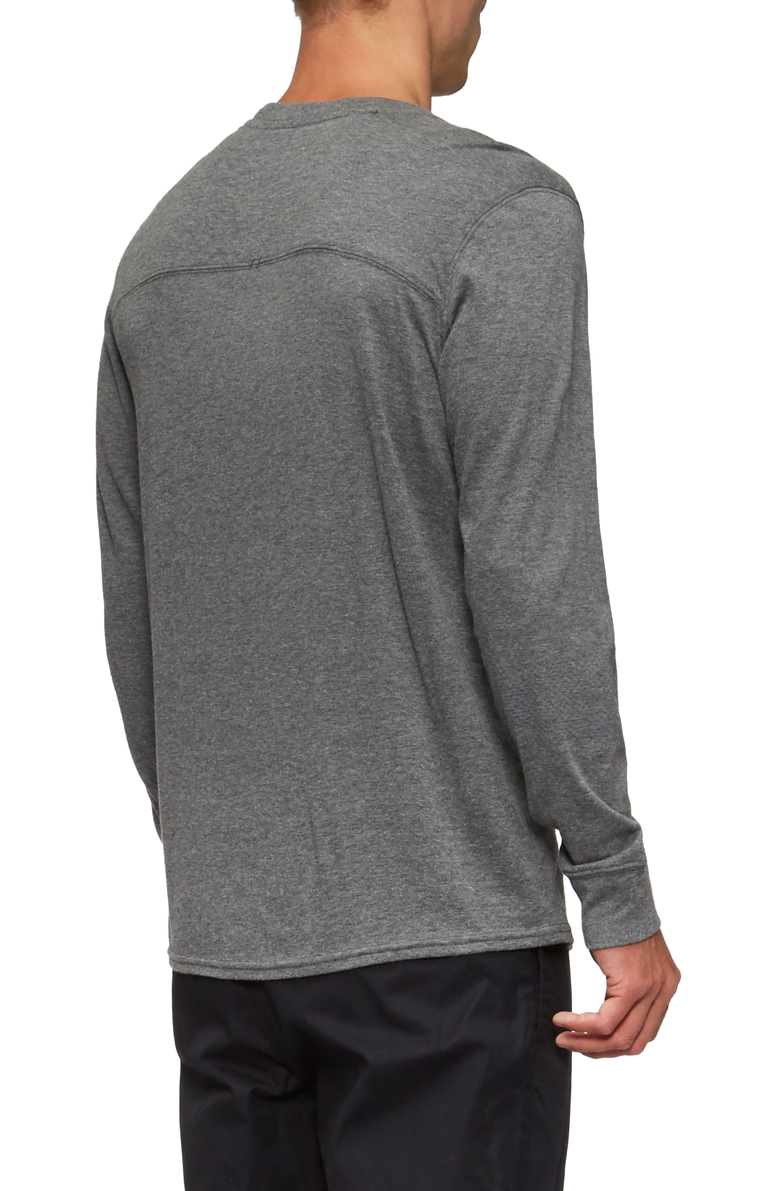 Lowell Long Sleeve T-Shirt,                             Alternate thumbnail 2, color,                             Heather Grey