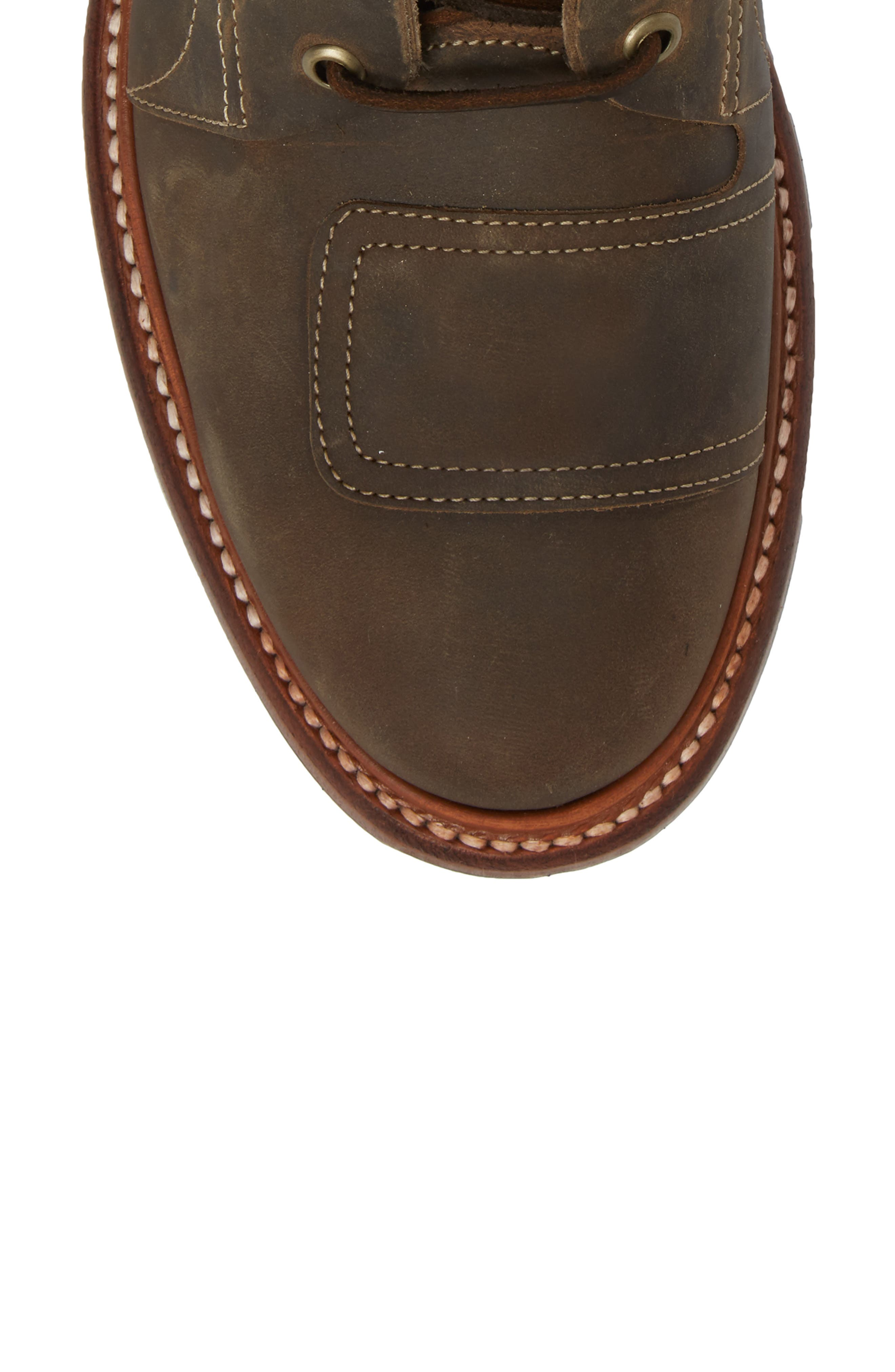 Cypress Plain Toe Boot,                             Alternate thumbnail 5, color,                             Brown Leather