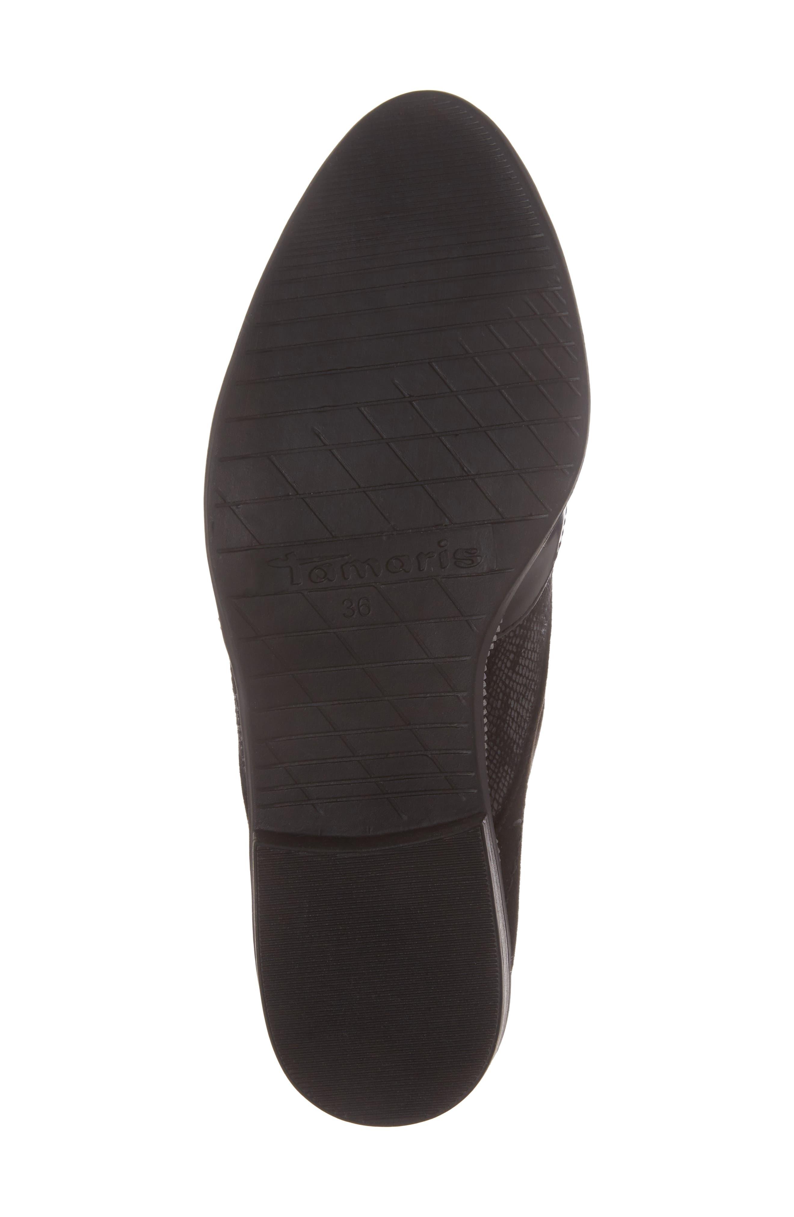 'Phanie' Slip-On Oxford,                             Alternate thumbnail 6, color,                             Black Fabric