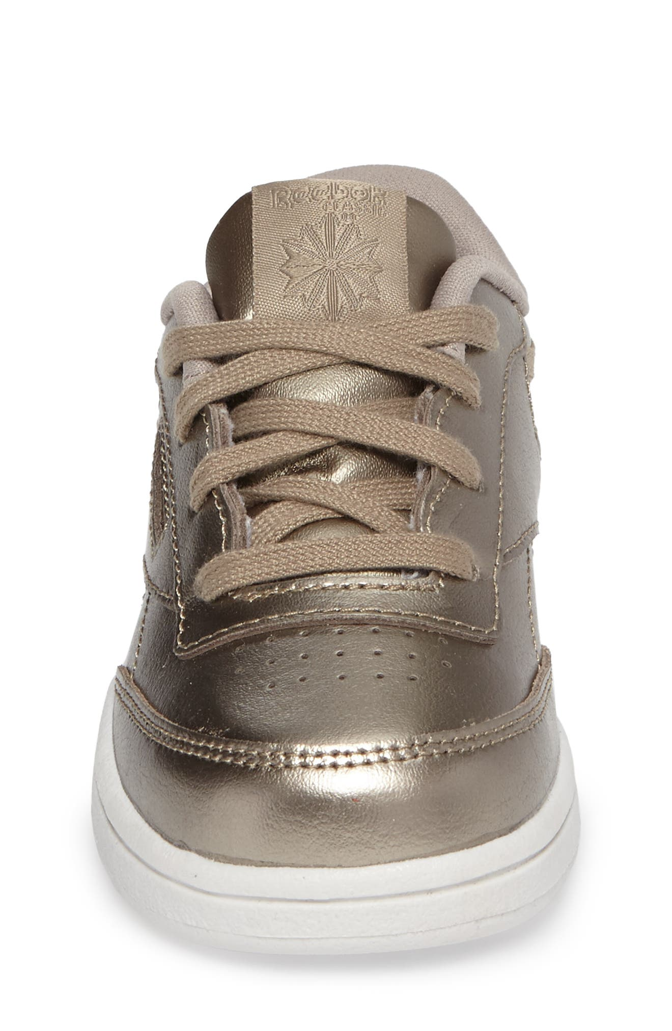 Alternate Image 4  - Reebok Club C Melted Metallic Sneaker (Baby, Walker & Toddler)