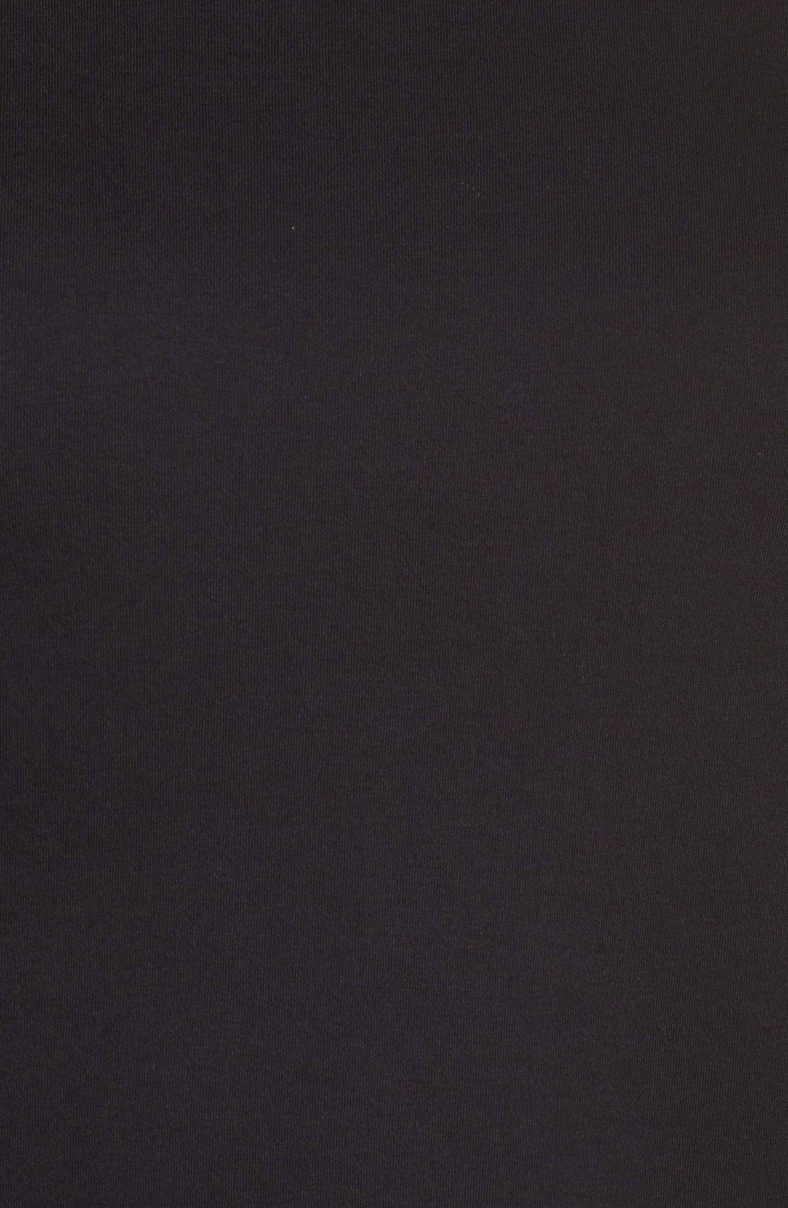 Organic Cotton Ballet Neck Top,                             Alternate thumbnail 5, color,                             Black