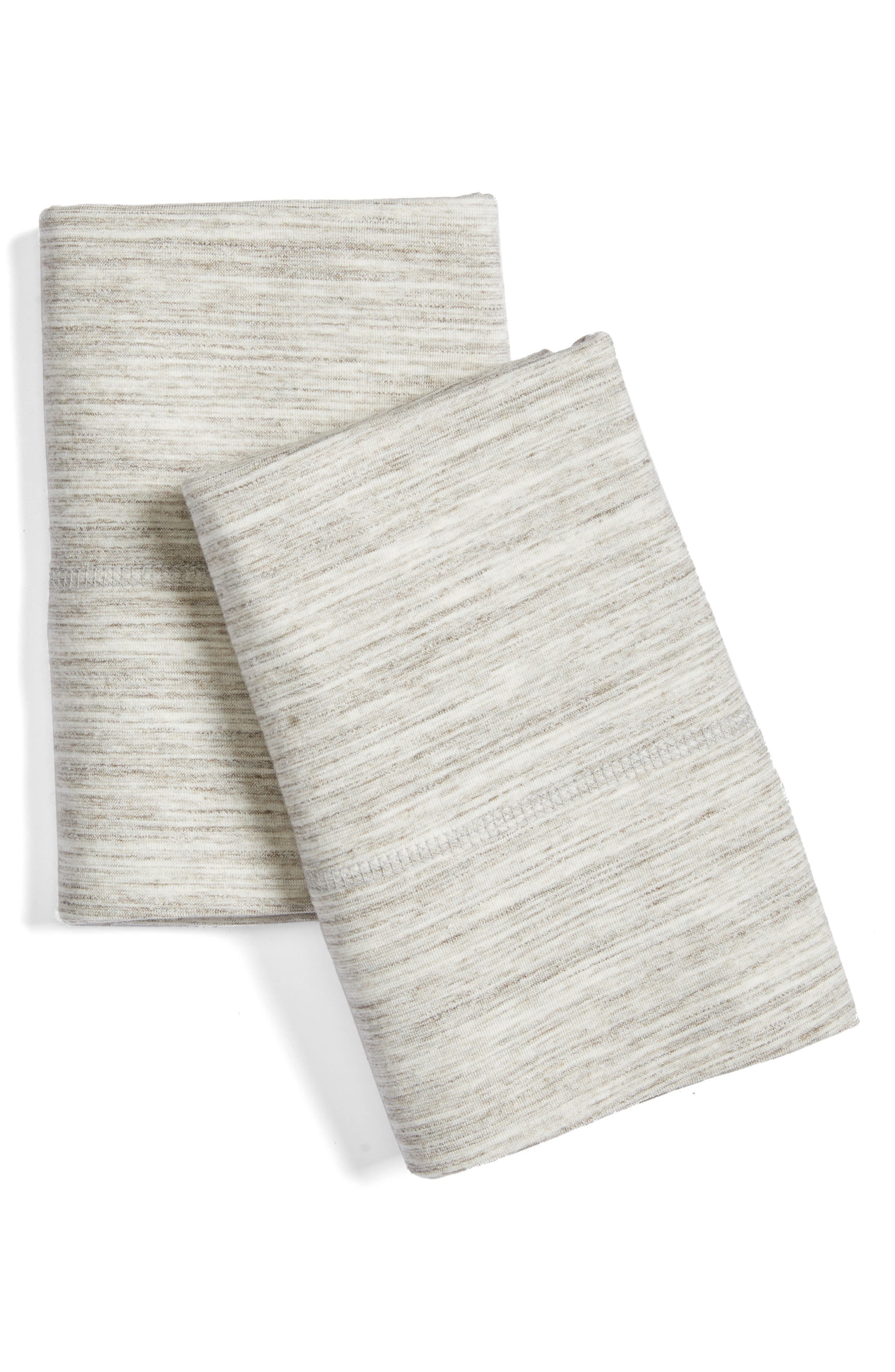 Strata Pillowcases,                             Main thumbnail 1, color,                             Sand Wash