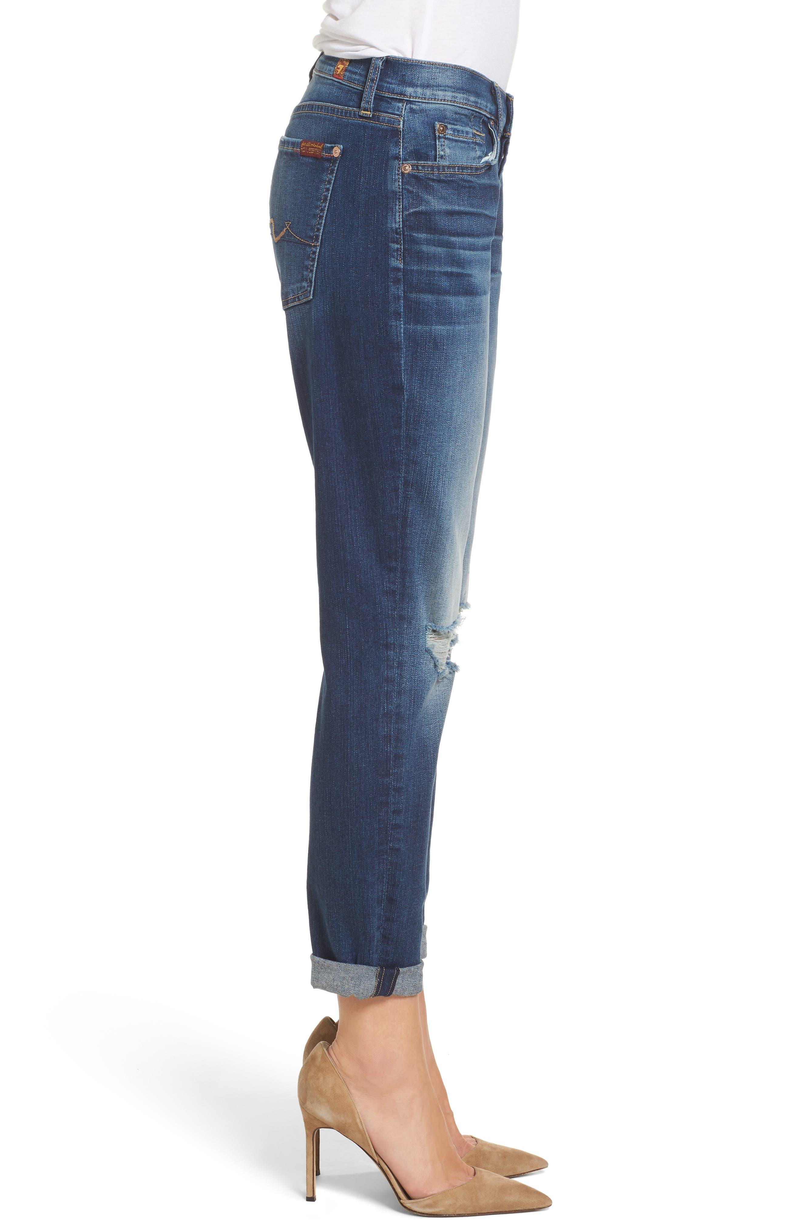 Alternate Image 3  - 7 For All Mankind® Josefina Destroyed Boyfriend Jeans (Liberty)