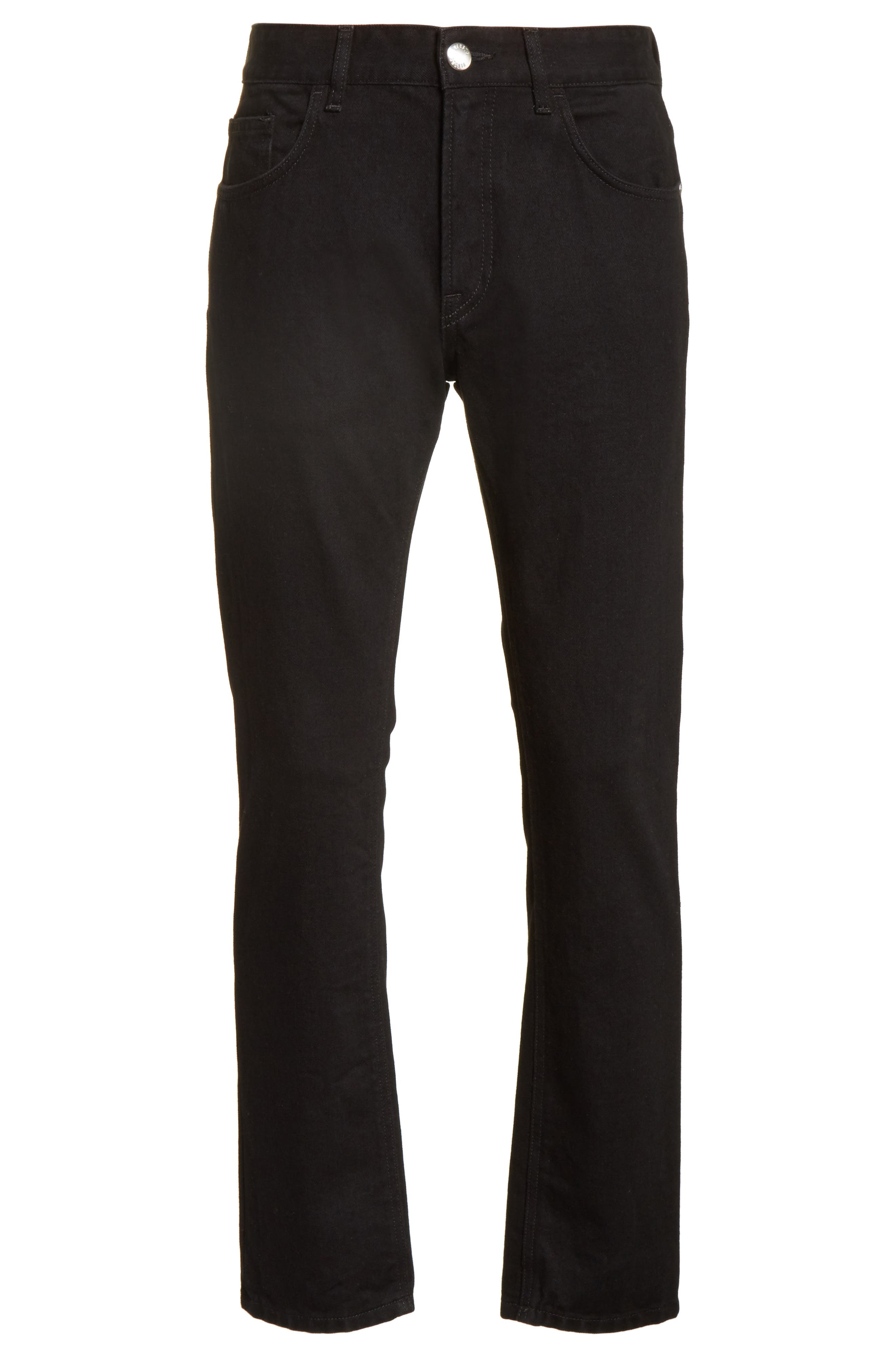 VERSUS by Versace Lion Slim Fit Jeans,                             Alternate thumbnail 6, color,                             Black