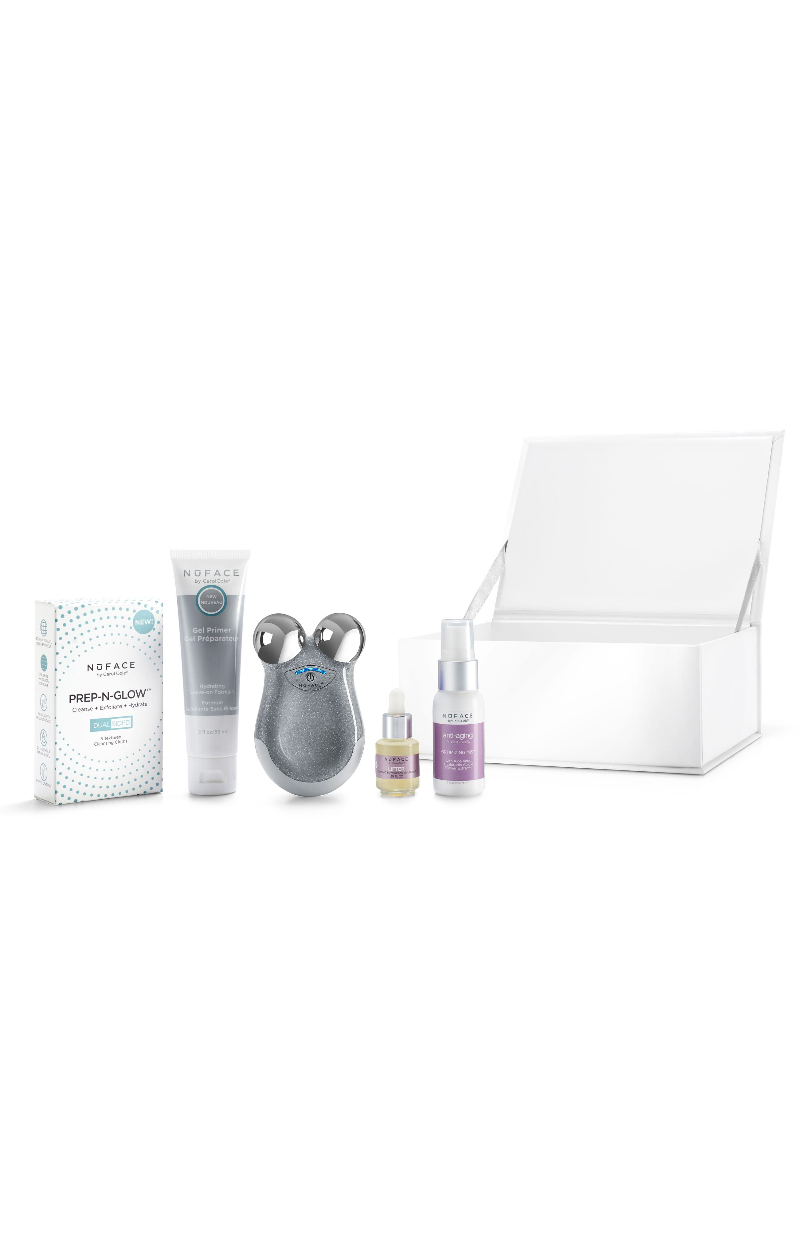 NuFACE® On the Glow Microcurrent + Hydration Travel Essentials Set ($254 Value)
