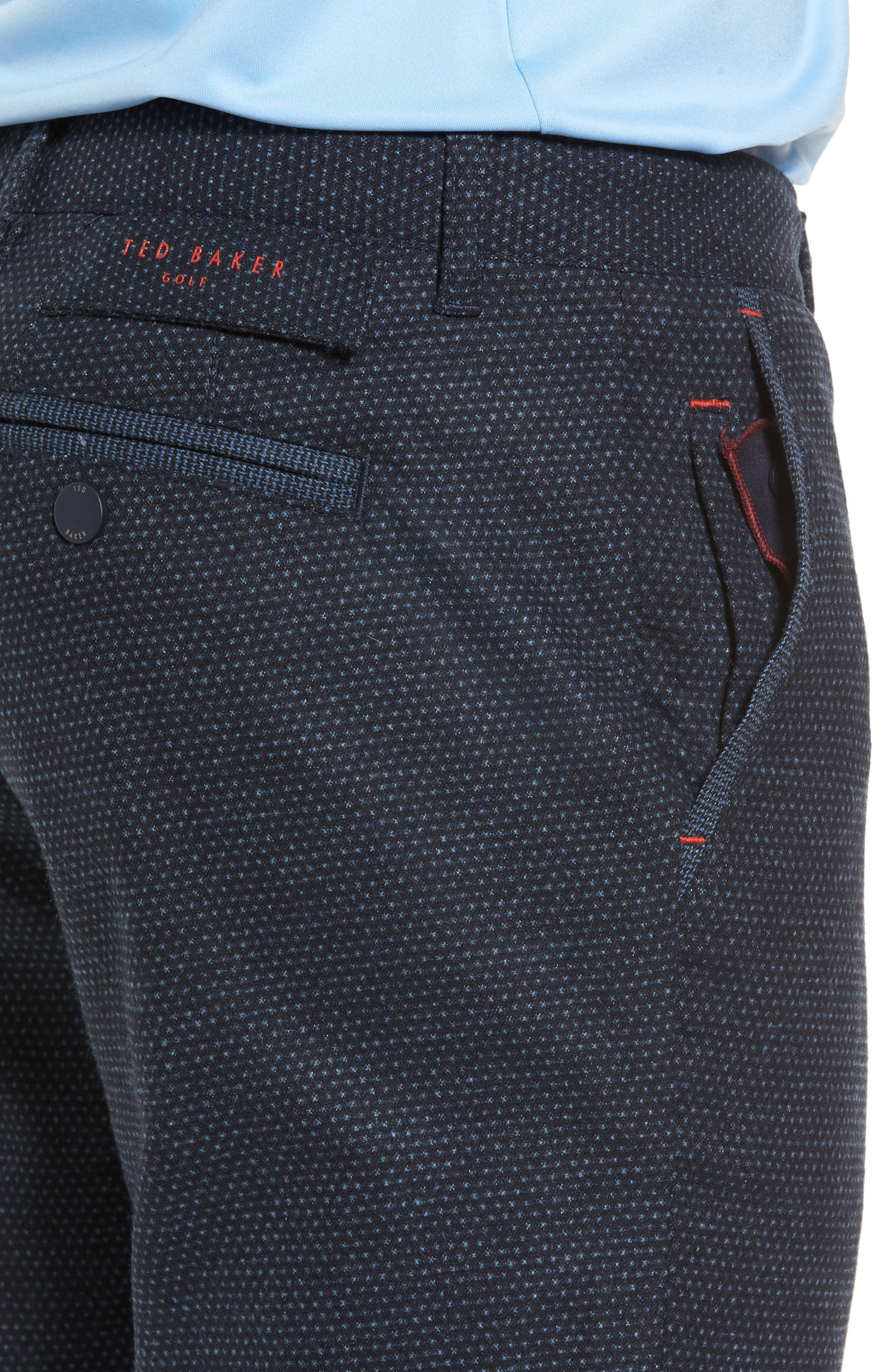 Water Resistant Golf Trousers,                             Alternate thumbnail 4, color,                             Navy