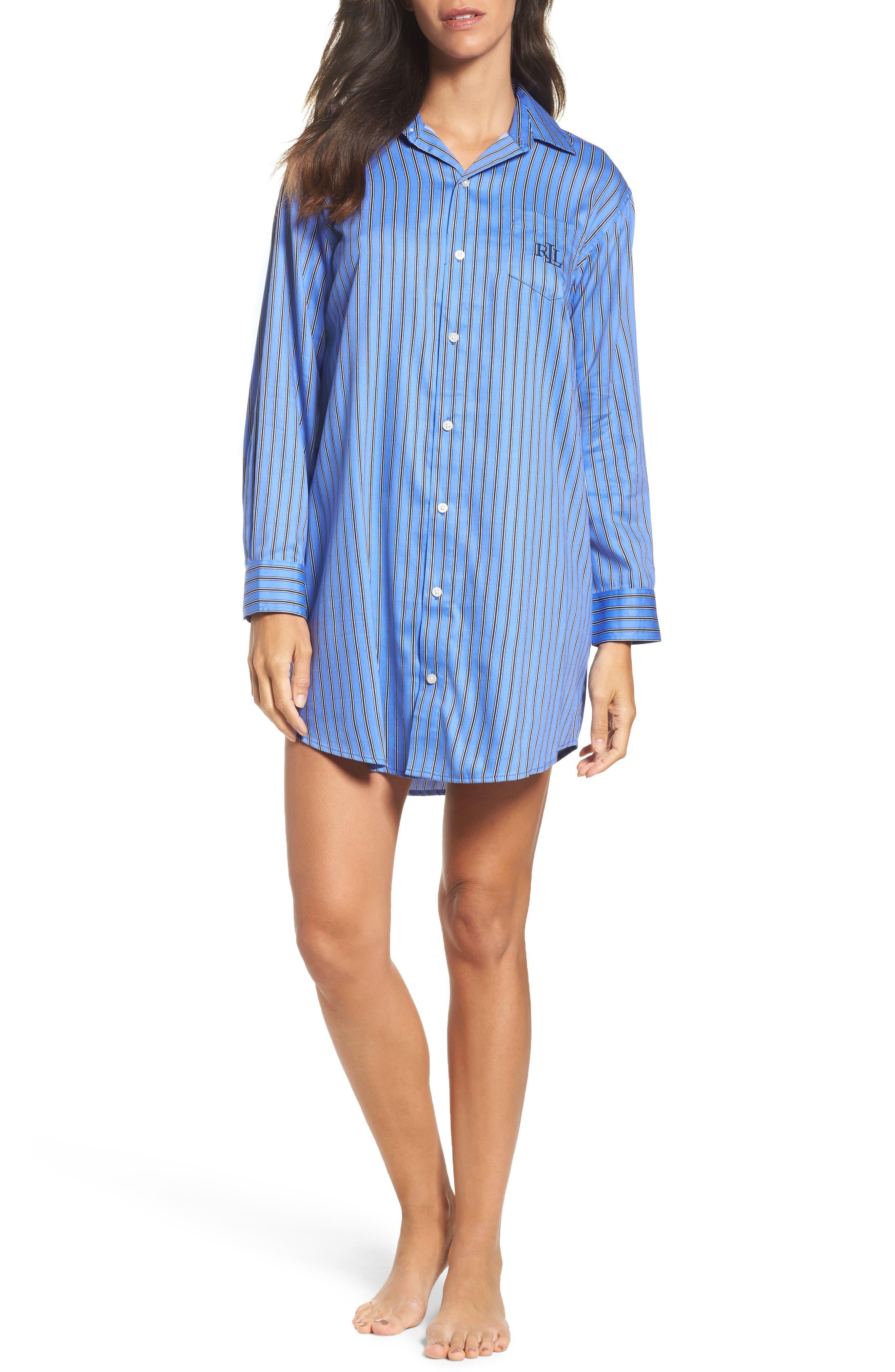 Alternate Image 1 Selected - Lauren by Ralph Lauren Paisley Sleep Shirt