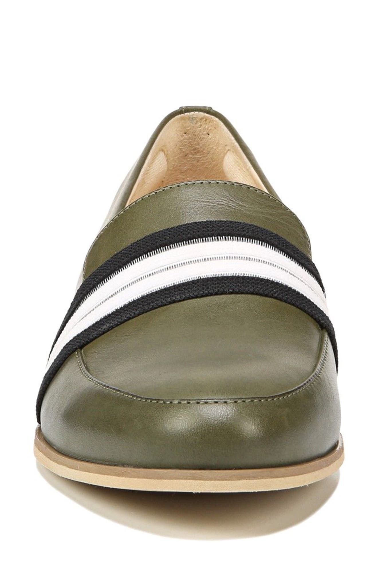 Everett Band Loafer,                             Alternate thumbnail 4, color,                             Green Leather