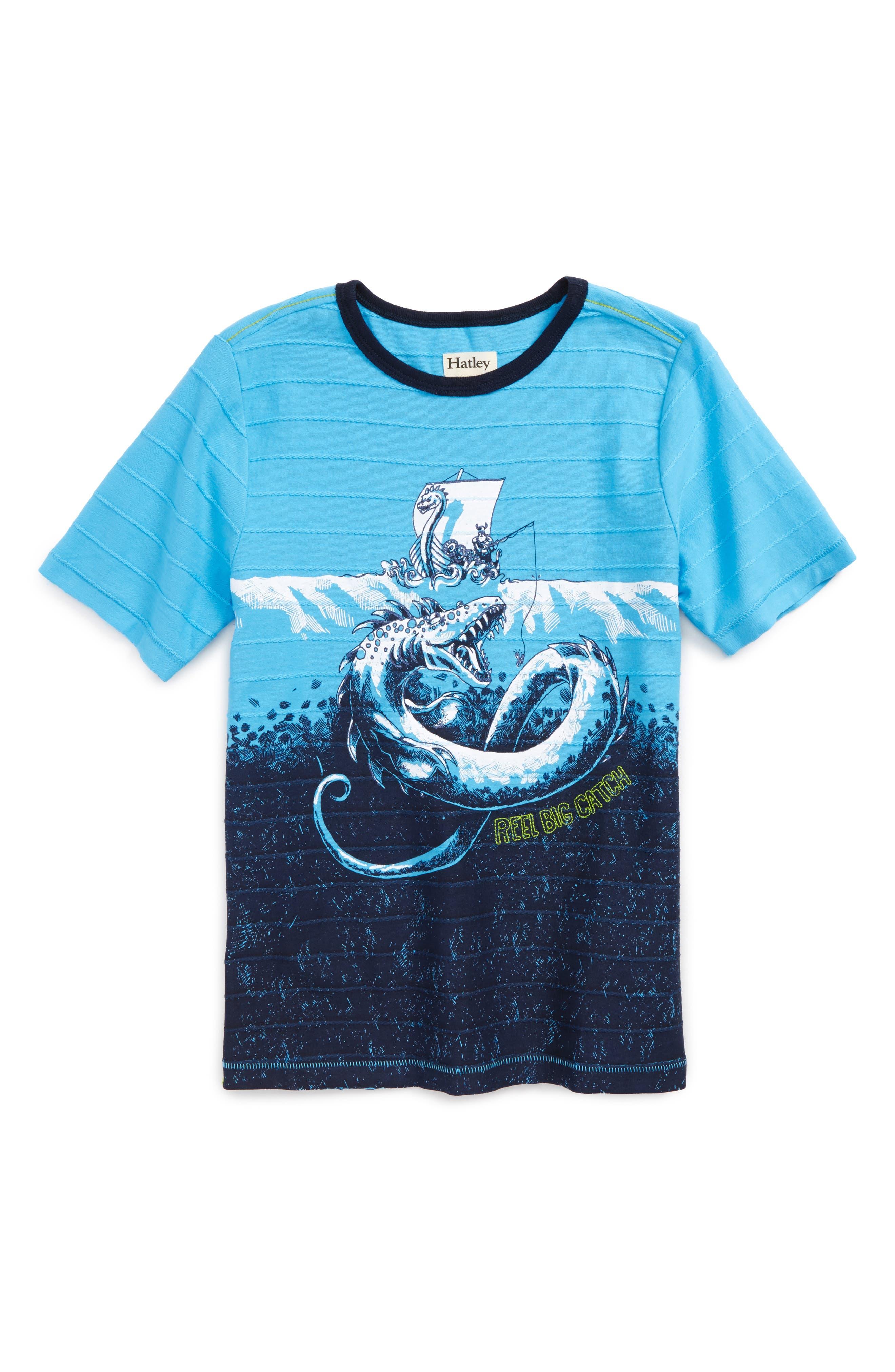 Alternate Image 1 Selected - Hatley Viking Fishing T-Shirt (Toddler Boys, Little Boys & Big Boys)