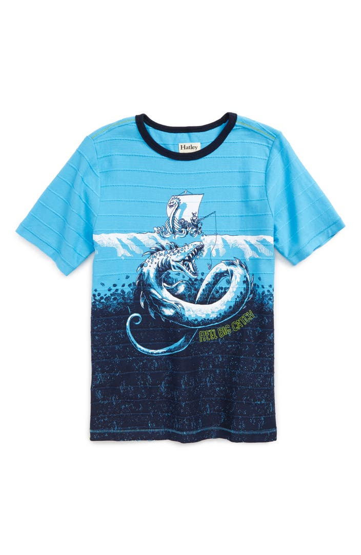 Hatley viking fishing t shirt toddler boys little boys for Toddler fishing shirts