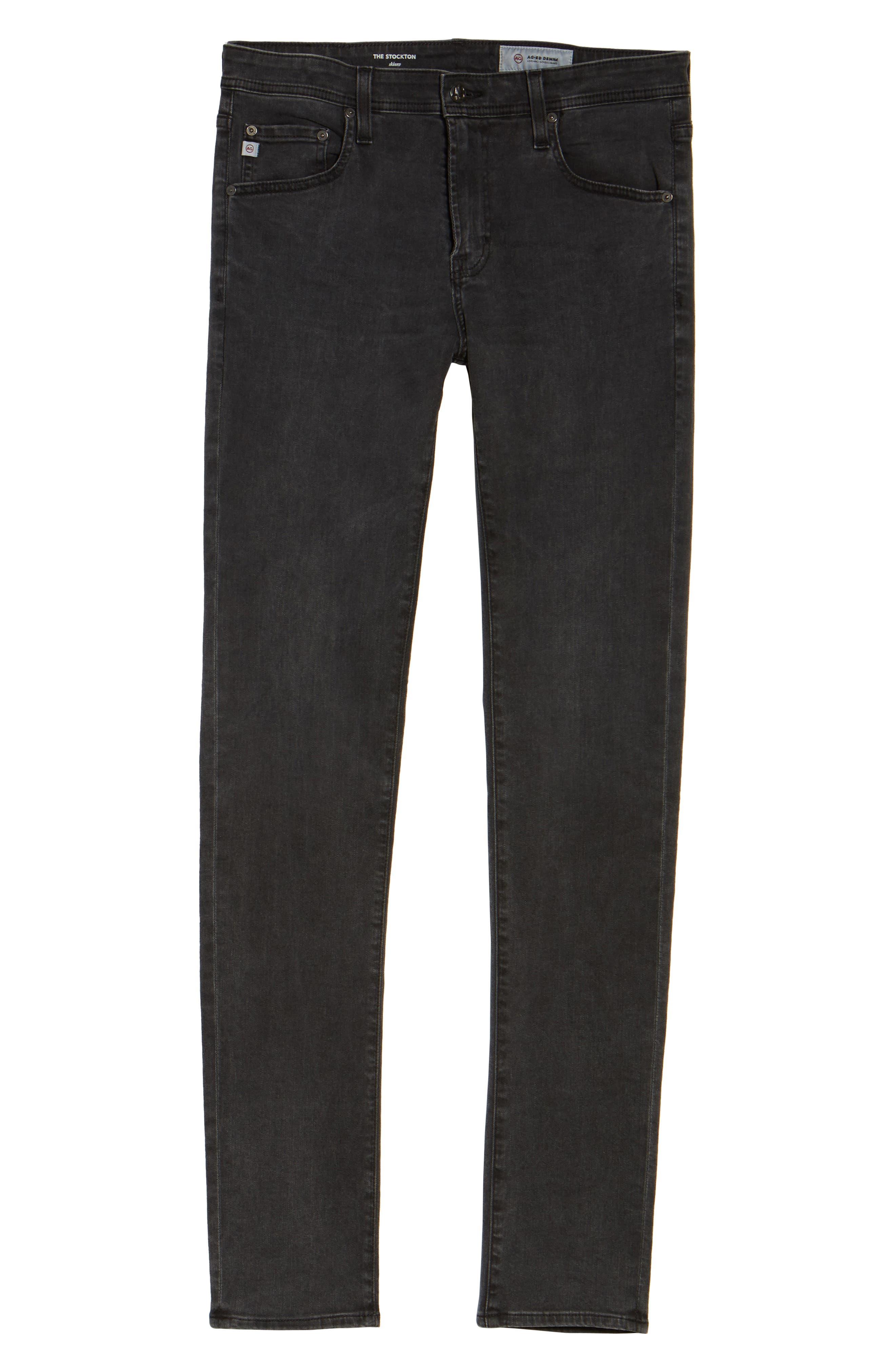 Alternate Image 6  - AG Stockton Skinny Fit Jeans (10 Years Black Dunes)
