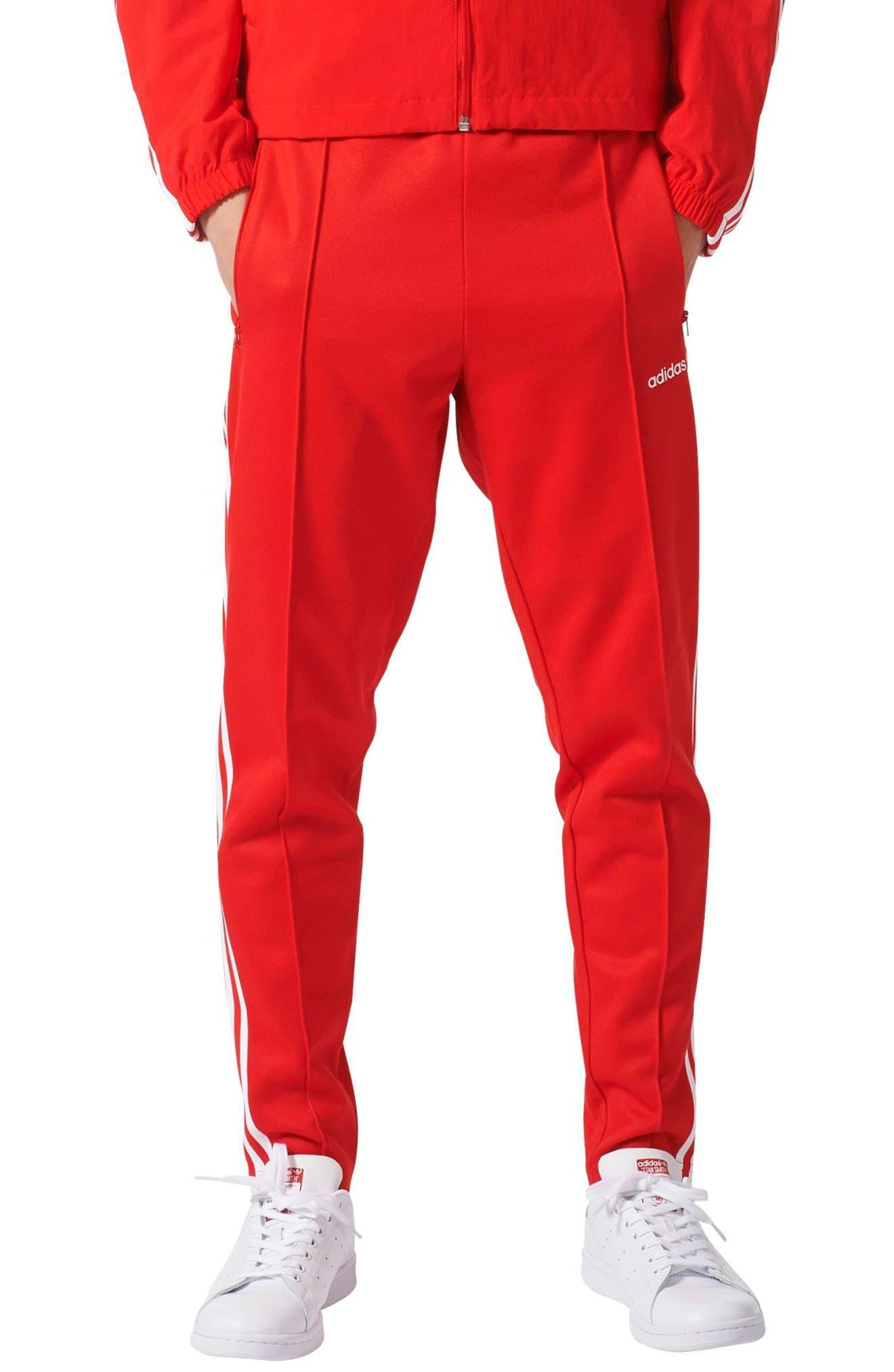 Originals Beckenbauer Track Pants,                         Main,                         color, Vivid Red