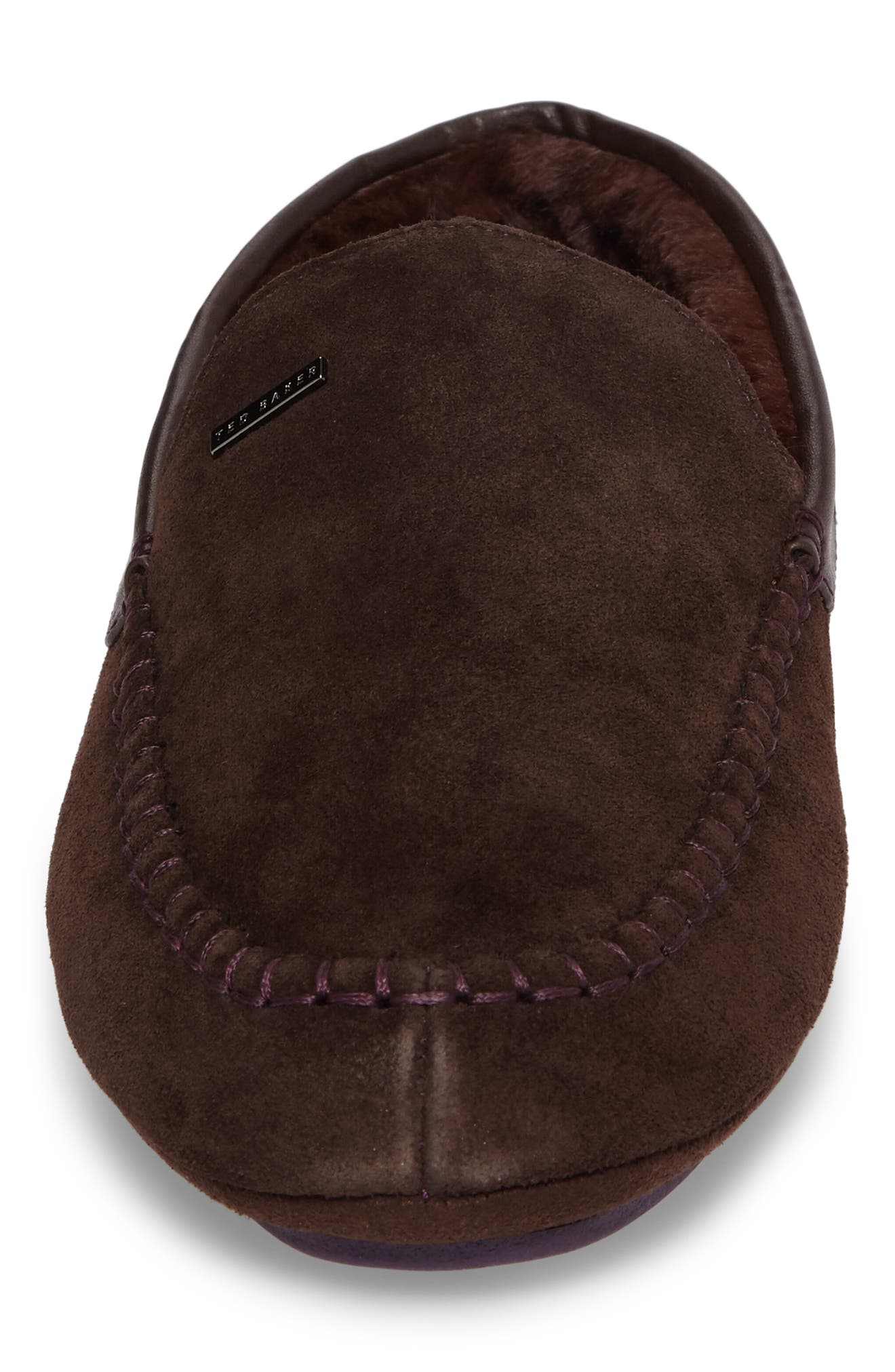 Moriss Slipper,                             Alternate thumbnail 4, color,                             Brown Suede