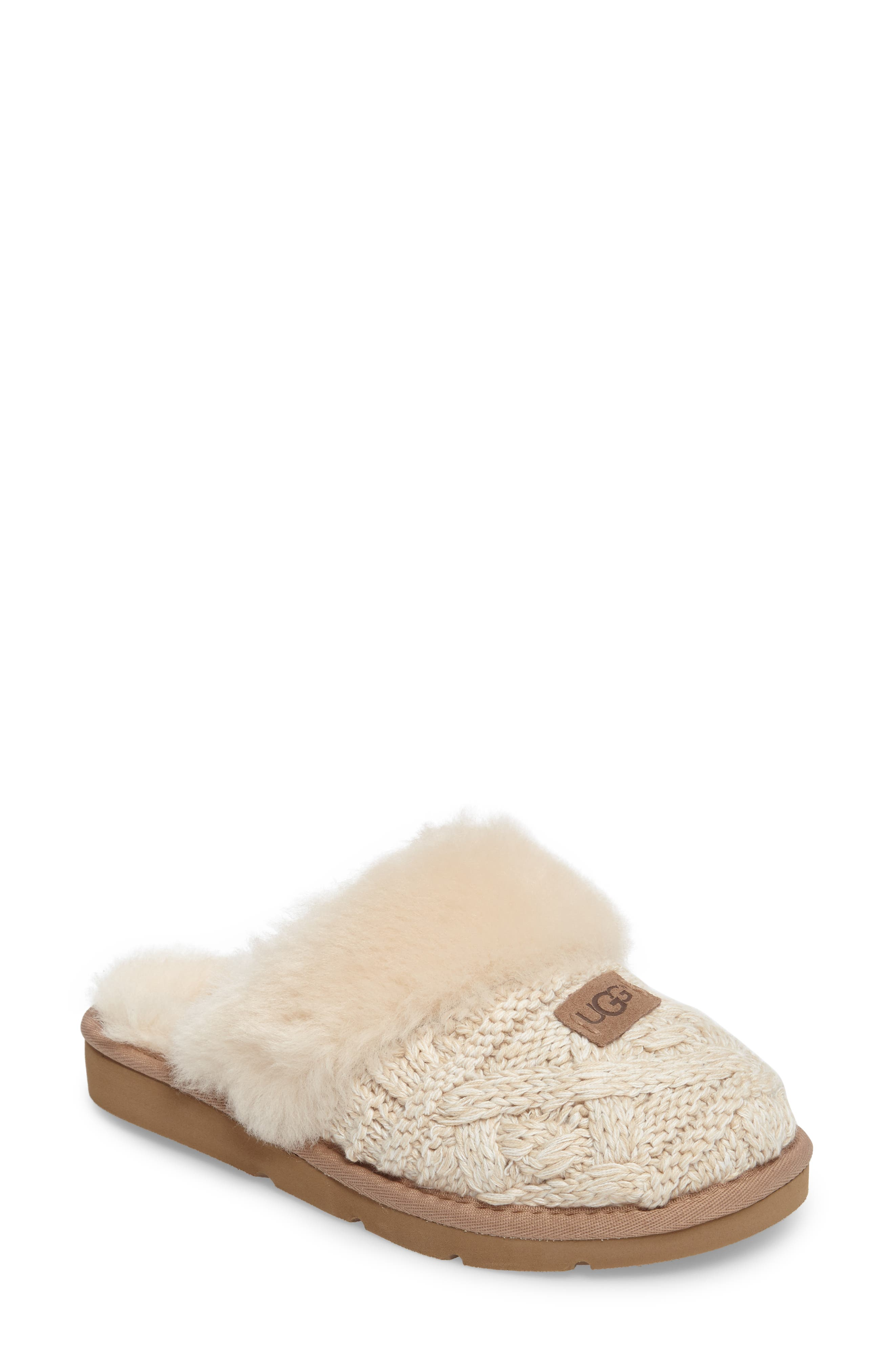 Alternate Image 1 Selected - UGG® Cozy Cable Slipper (Women)