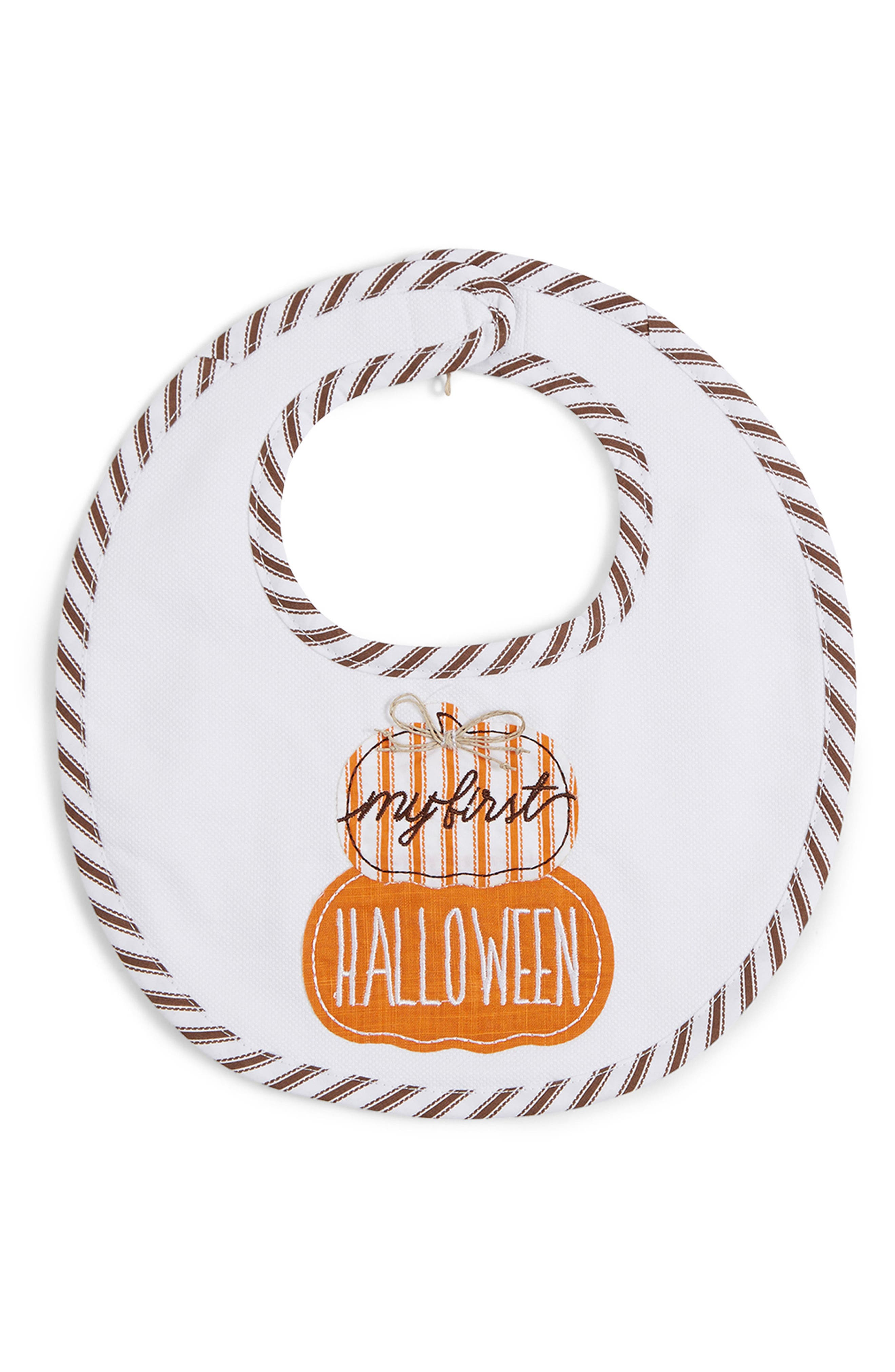 Alternate Image 1 Selected - Mud Pie My First Halloween Bib
