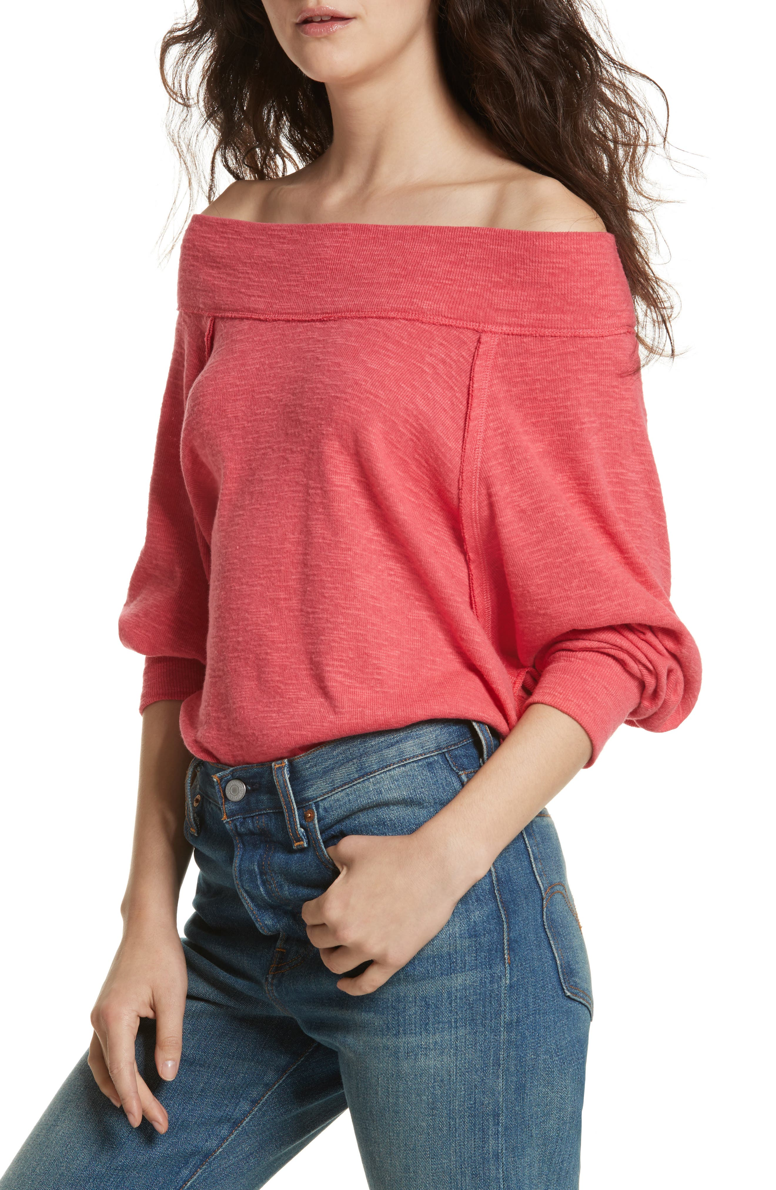 Alternate Image 1 Selected - Free People Palisades Off the Shoulder Top