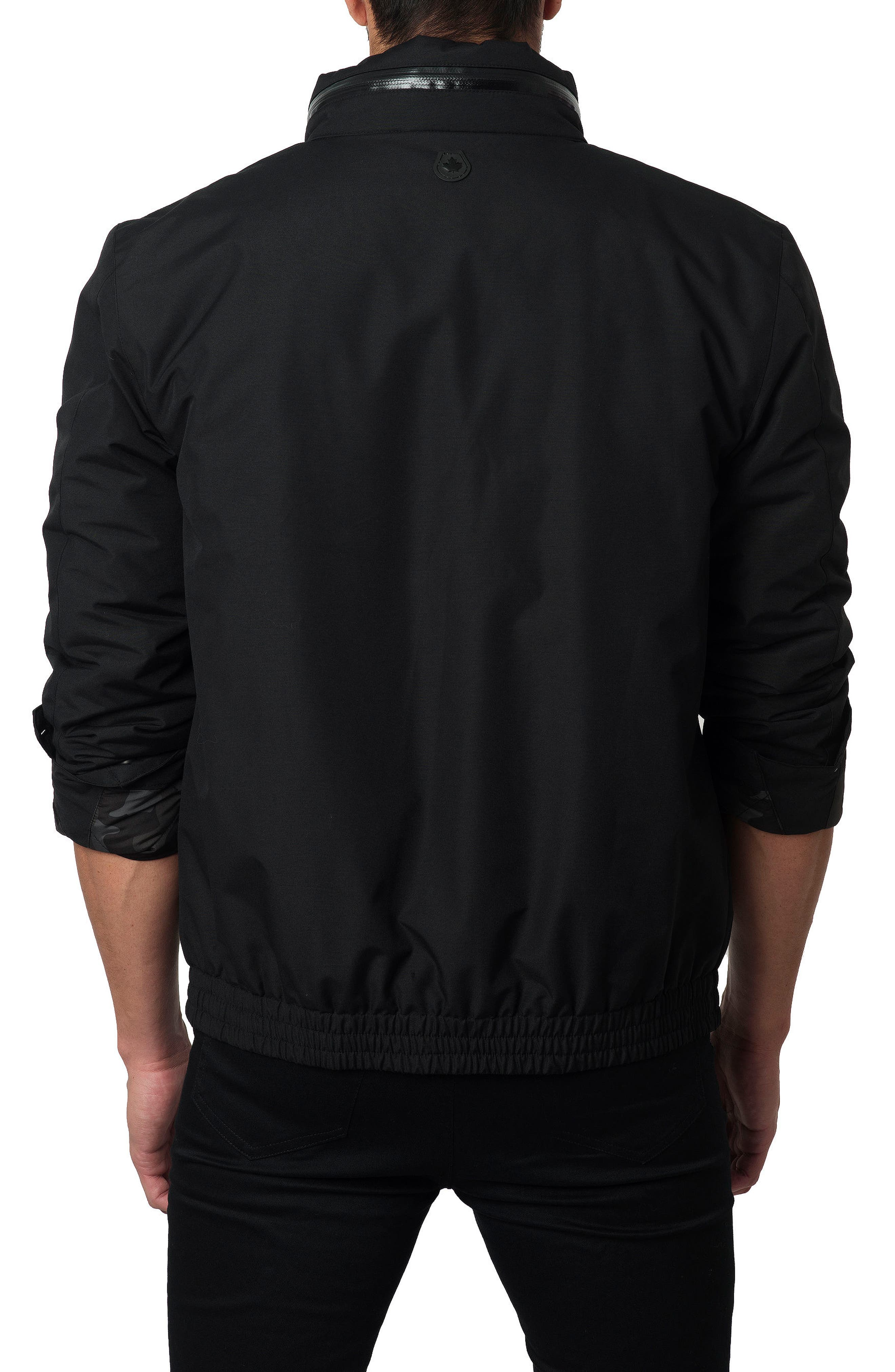 Water-Repellent Jacket,                             Alternate thumbnail 2, color,                             Black Cotton Tek