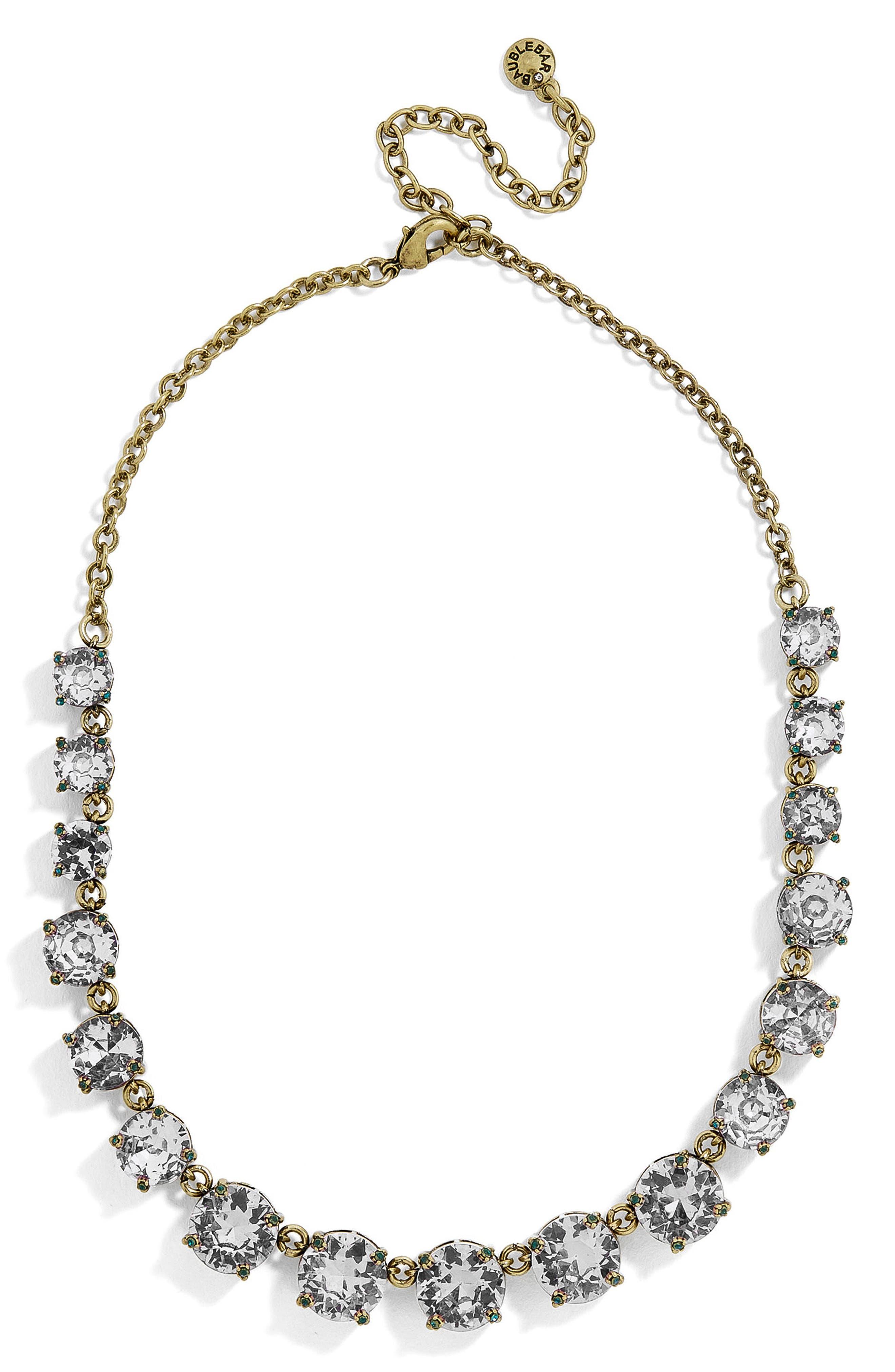 Crystal Collar Necklace,                         Main,                         color, Grey